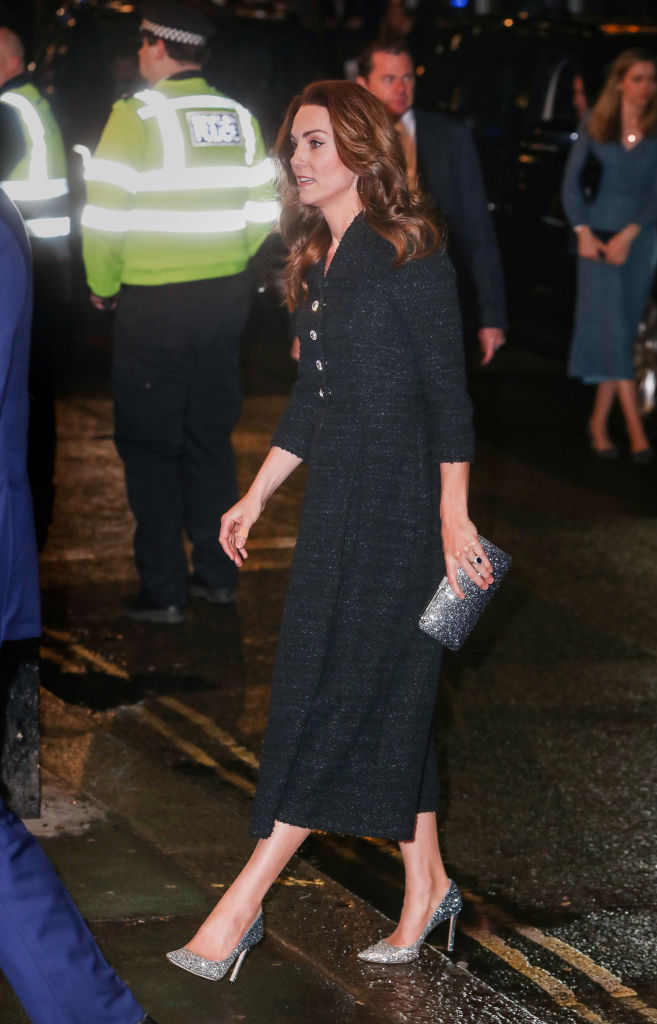 LONDON, ENGLAND - FEBRUARY 25: The Duchess Of Cambridge attends a charity performance of