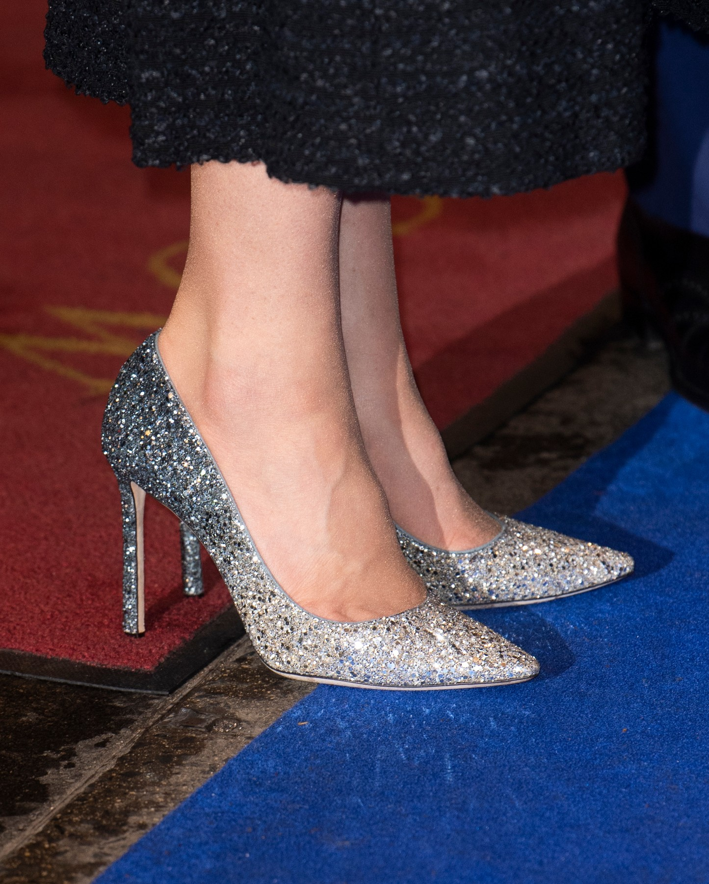 The shoes of The Duchess of Cambridge at a special performance of Dear Evan Hansen, at the Noel Coward Theatre, which is being held in aid of The Royal Foundation., Image: 501008971, License: Rights-managed, Restrictions: , Model Release: no, Credit line: Doug Peters / PA Images / Profimedia