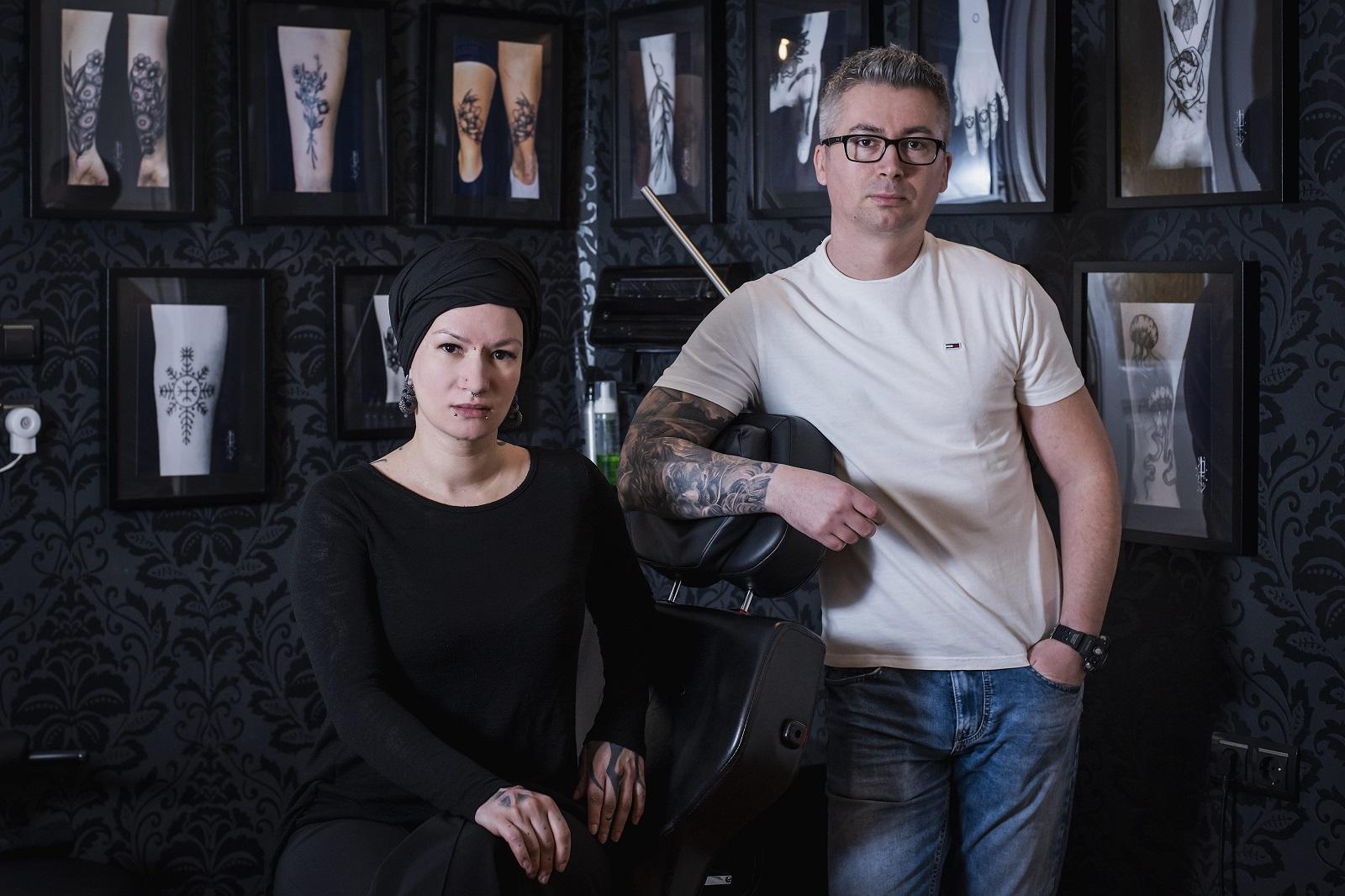 Zagreb, 260220. U octopus tattoo i piercing studiu besplatno tetoviraju bradavice zenama lijecenim od karcinoma dojke. Foto: Neja Markicevic / CROPIX