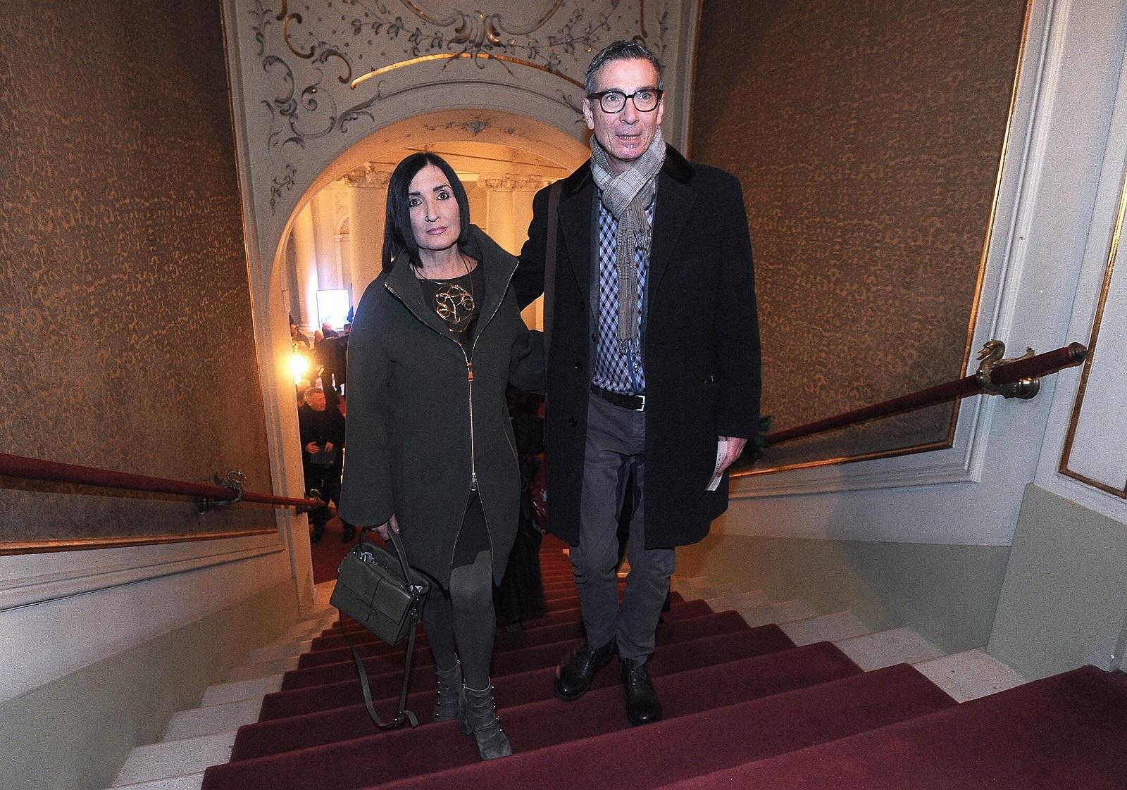 Massimo sa suprugom Eni na premijeri predstave 'Kralj Lear' 2018. godine