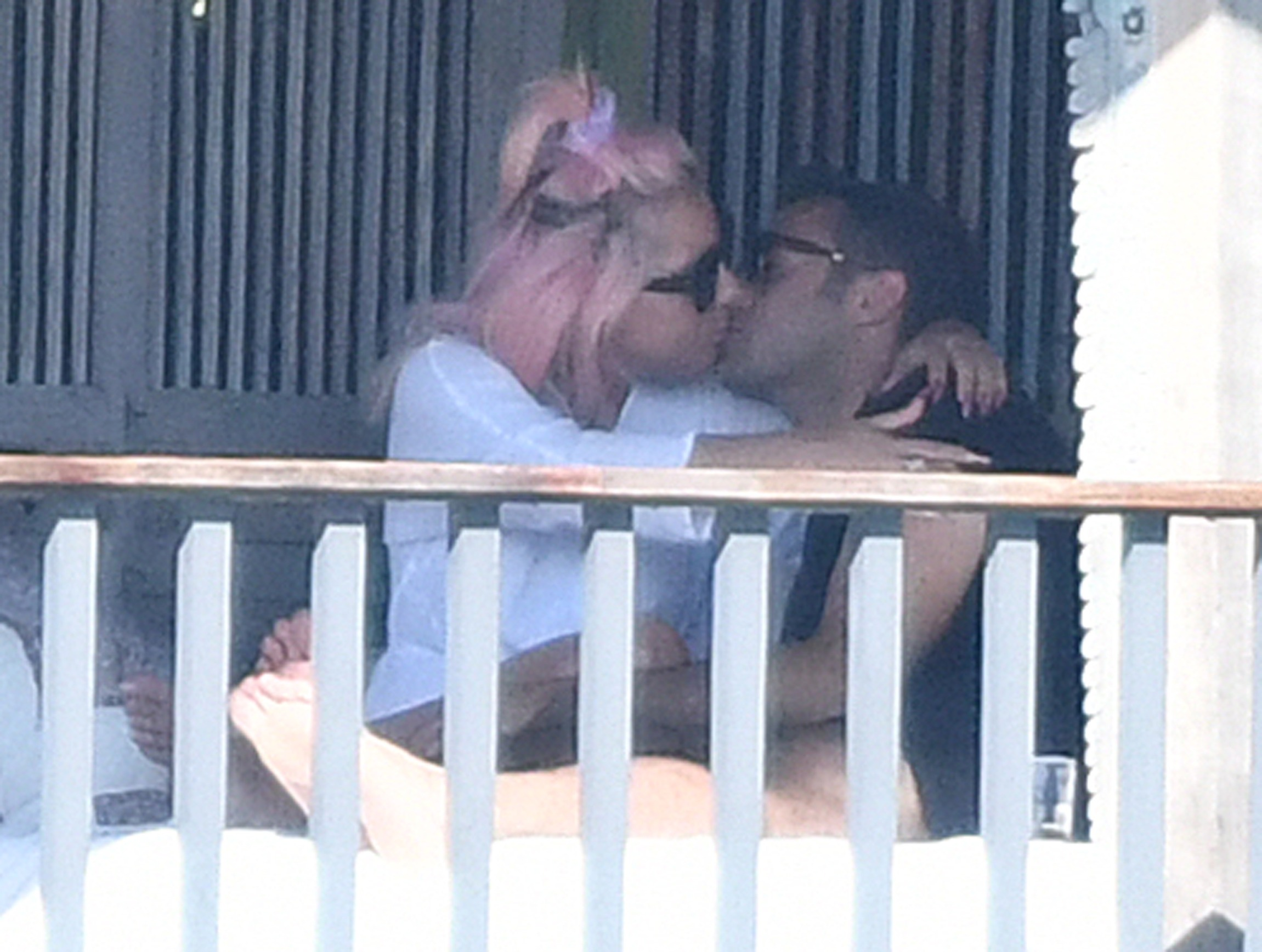 *PREMIUM EXCLUSIVE NO WEB UNTIL 2130 EST 2ND FEB* Lady Gaga seen kissing a mystery man as she relaxes in Miami ahead of her pre Super Bowl concert on Saturday. Gaga looked sensational as she chilled out wearing a black thong bikini whilst cuddling up to her new man. It is not known if her hunky companion is the same man the 33-year-old beauty was spotted sharing a midnight kiss with in Las Vegas over the New Year holiday. Gaga ended her engagement from talent agent, Christian Carino, 51, in February 2019. The pair began dating in 2017 and got engaged in October 2018. 30 Jan 2020, Image: 496030374, License: Rights-managed, Restrictions: World Rights, Model Release: no, Credit line: MEGA / The Mega Agency / Profimedia