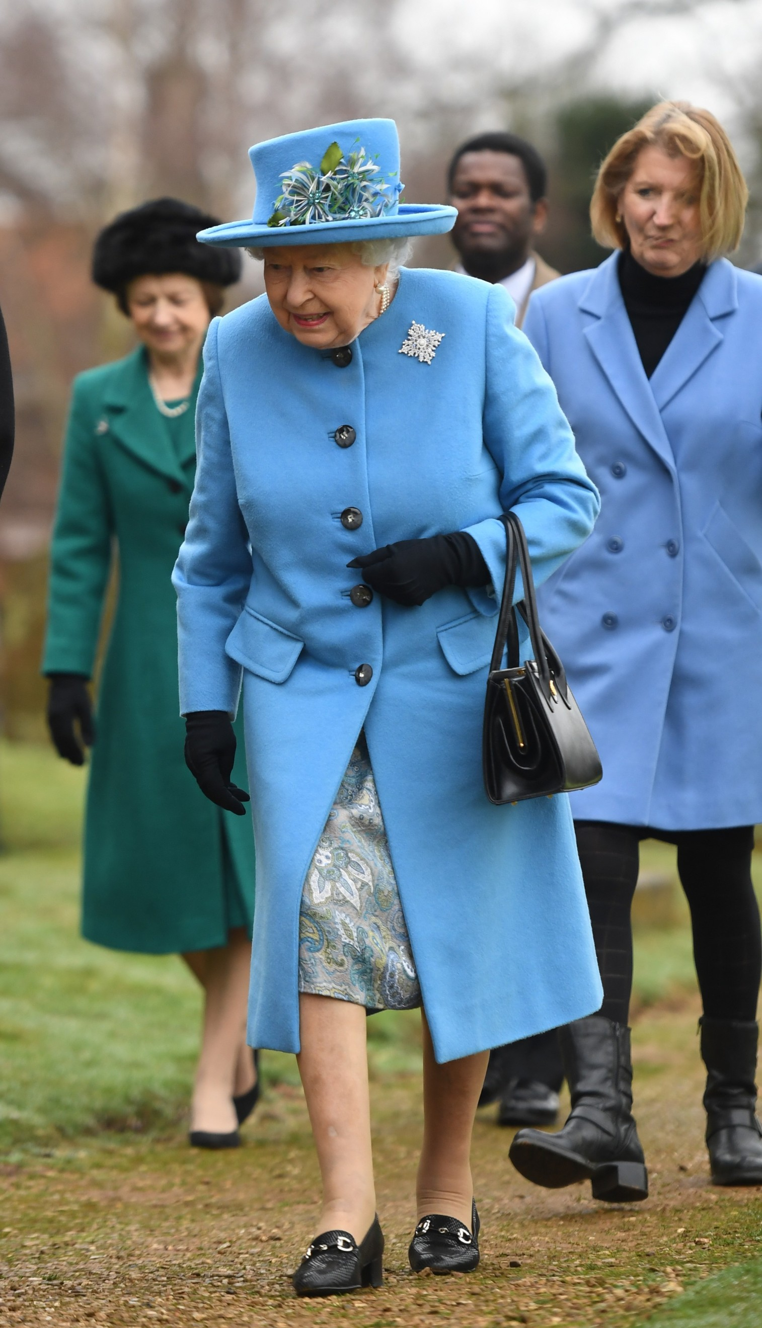 Queen Elizabeth II arrives at St Peter and St Paul church, in West Newton, Norfolk, to attend a Sunday service., Image: 496048463, License: Rights-managed, Restrictions: , Model Release: no, Credit line: Joe Giddens / PA Images / Profimedia
