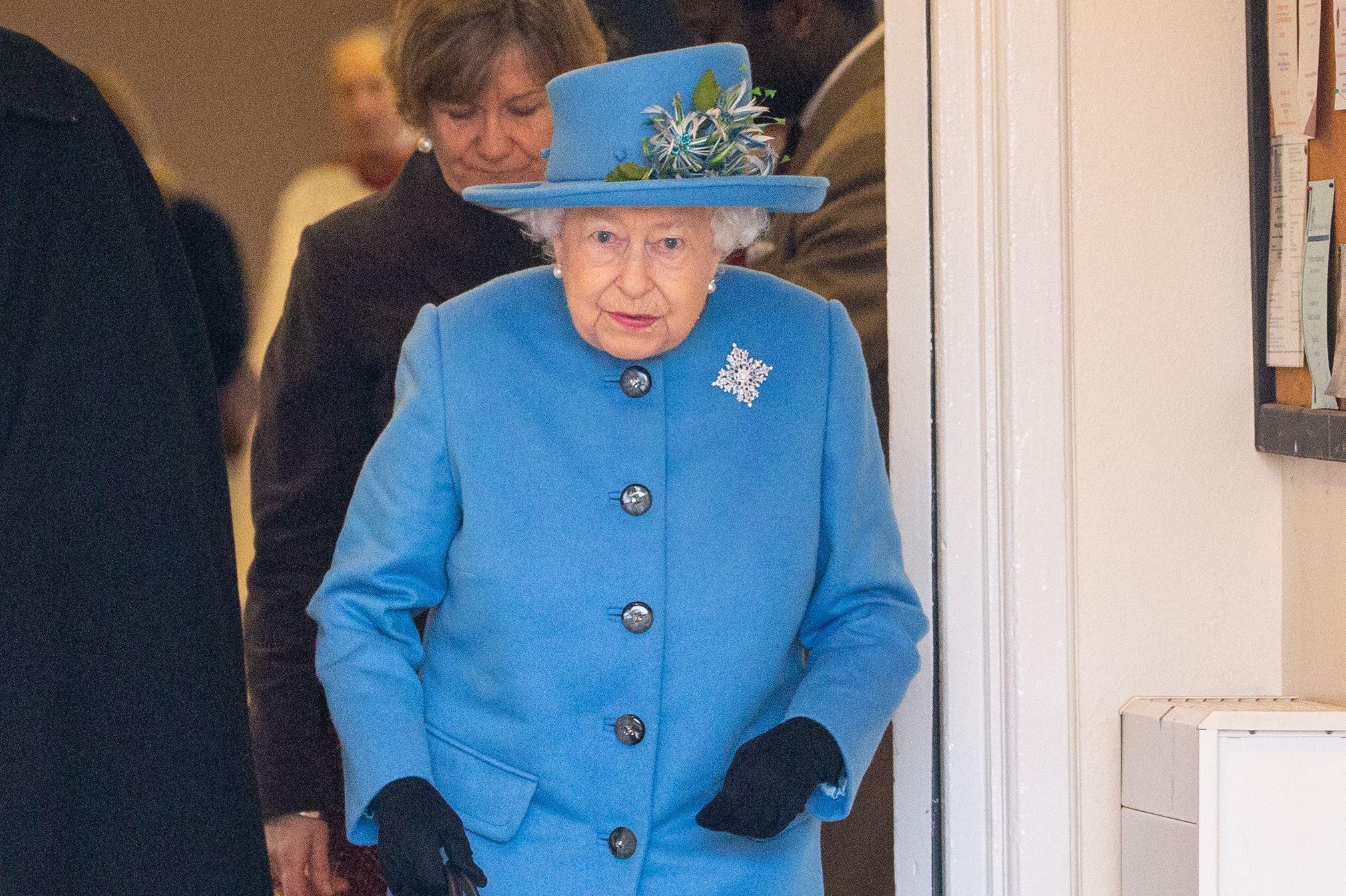 Queen Elizabeth II leaving Queen Elizabeth II visits St Peter and St Paul Parish Church, West Newton, Sandringham, Norfolk, UK - 02 Feb 2020, Image: 496063916, License: Rights-managed, Restrictions: , Model Release: no, Credit line: Geoff Robinson / Shutterstock Editorial / Profimedia