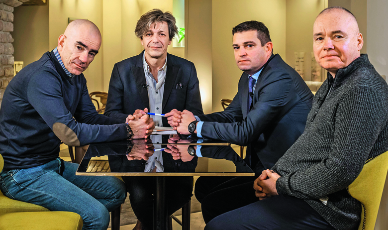 Ljubo Pavasović Visković, Boris Vlašić, Renato Matić i Dejan Dretar