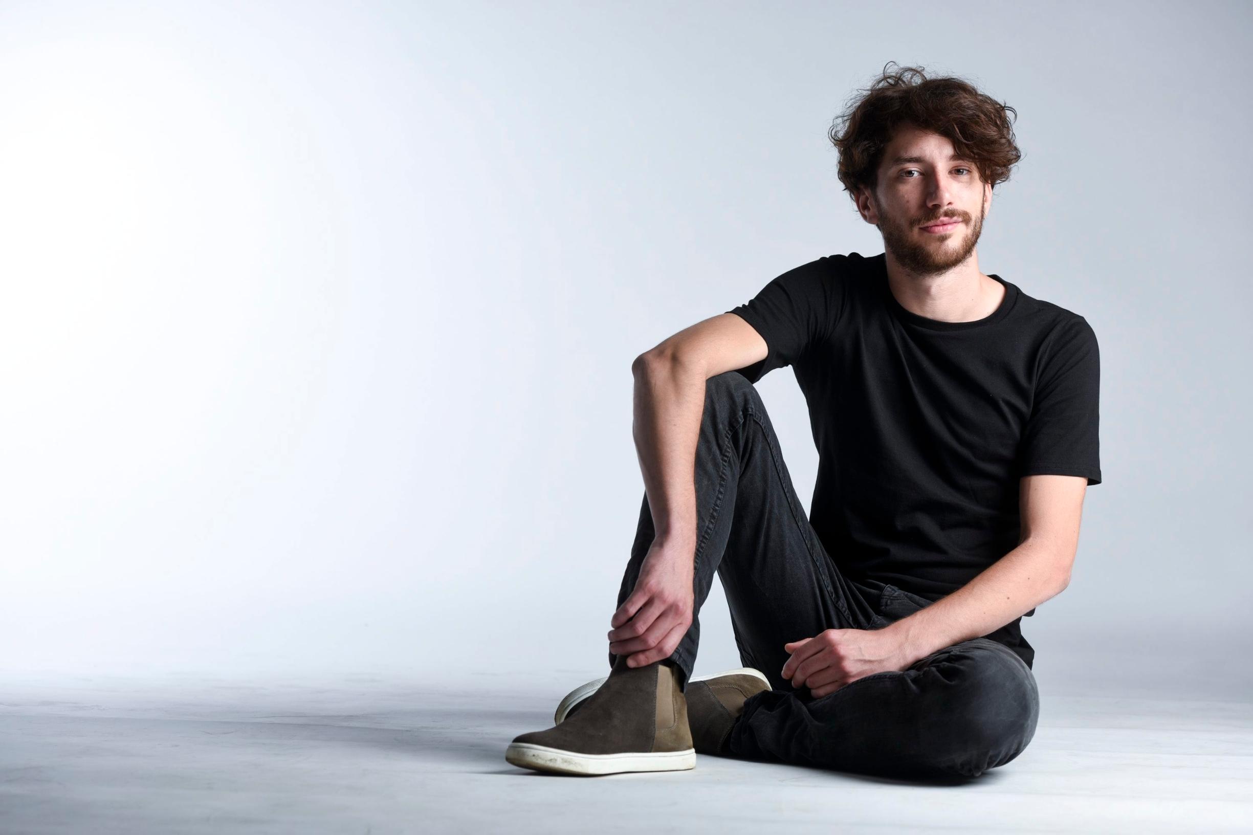 Zagreb, 070718. Koranska 2. Matino Antunovic, mladi glumac i student sveucilista Libertas. Foto: Darko Tomas / CROPIX