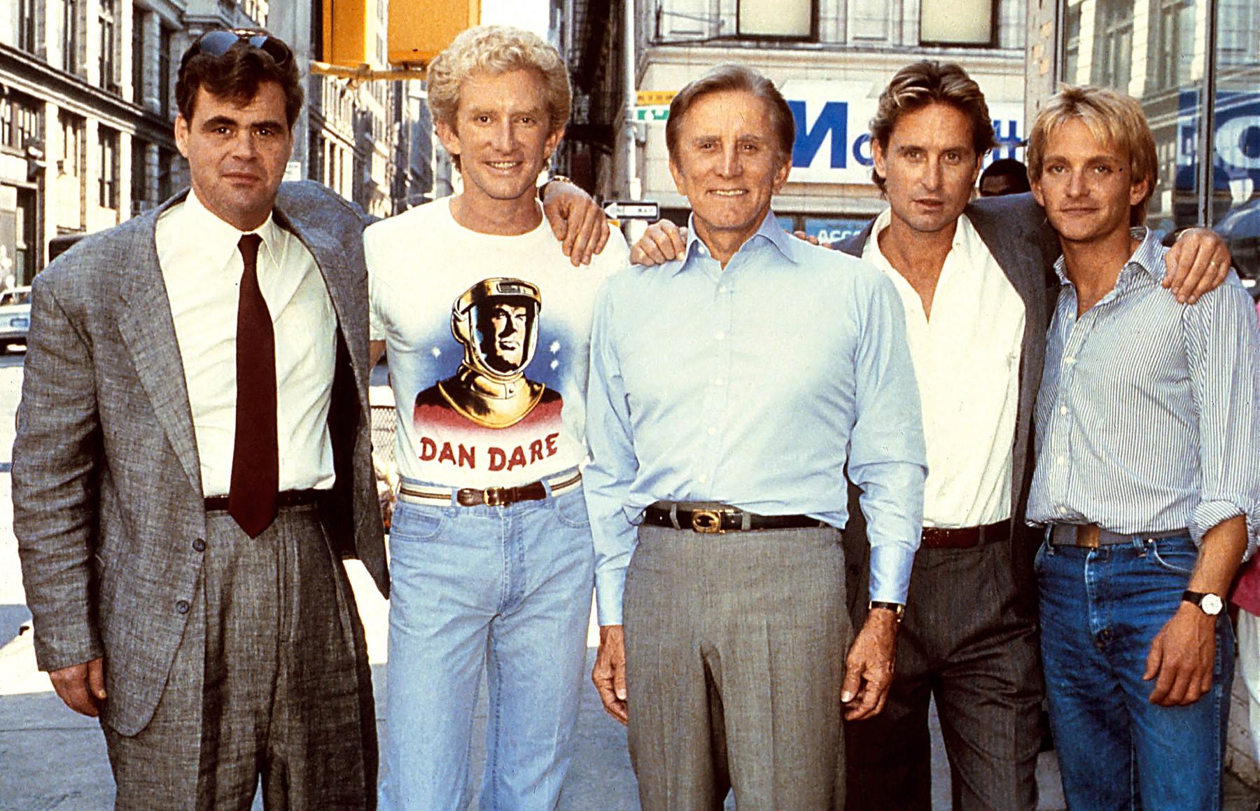 Kirk Douglas sa sinovima Michaelom, Joelom, Peterom i Ericom
