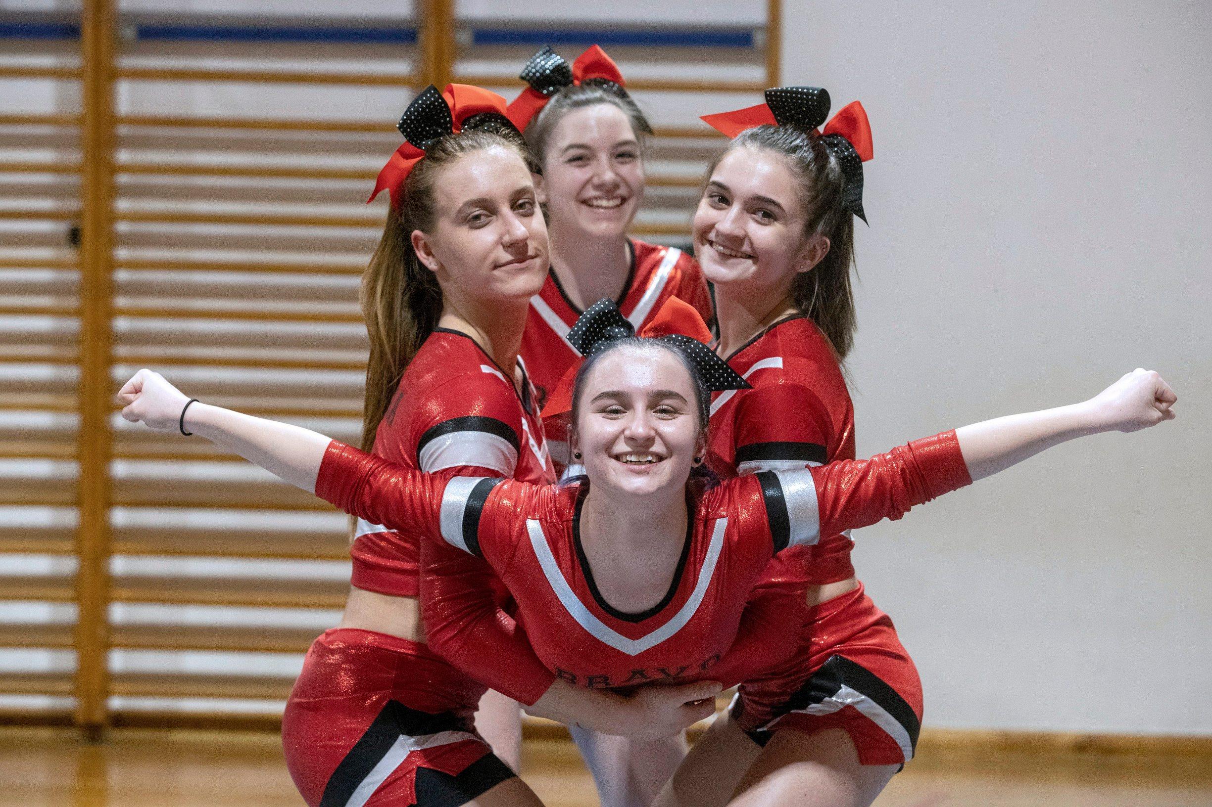 Varazdin, 050220. Trening cheerleadersica iz Varazdina koje se spremaju za nastup u Miamiju. Foto: Zeljko Hajdinjak / CROPIX