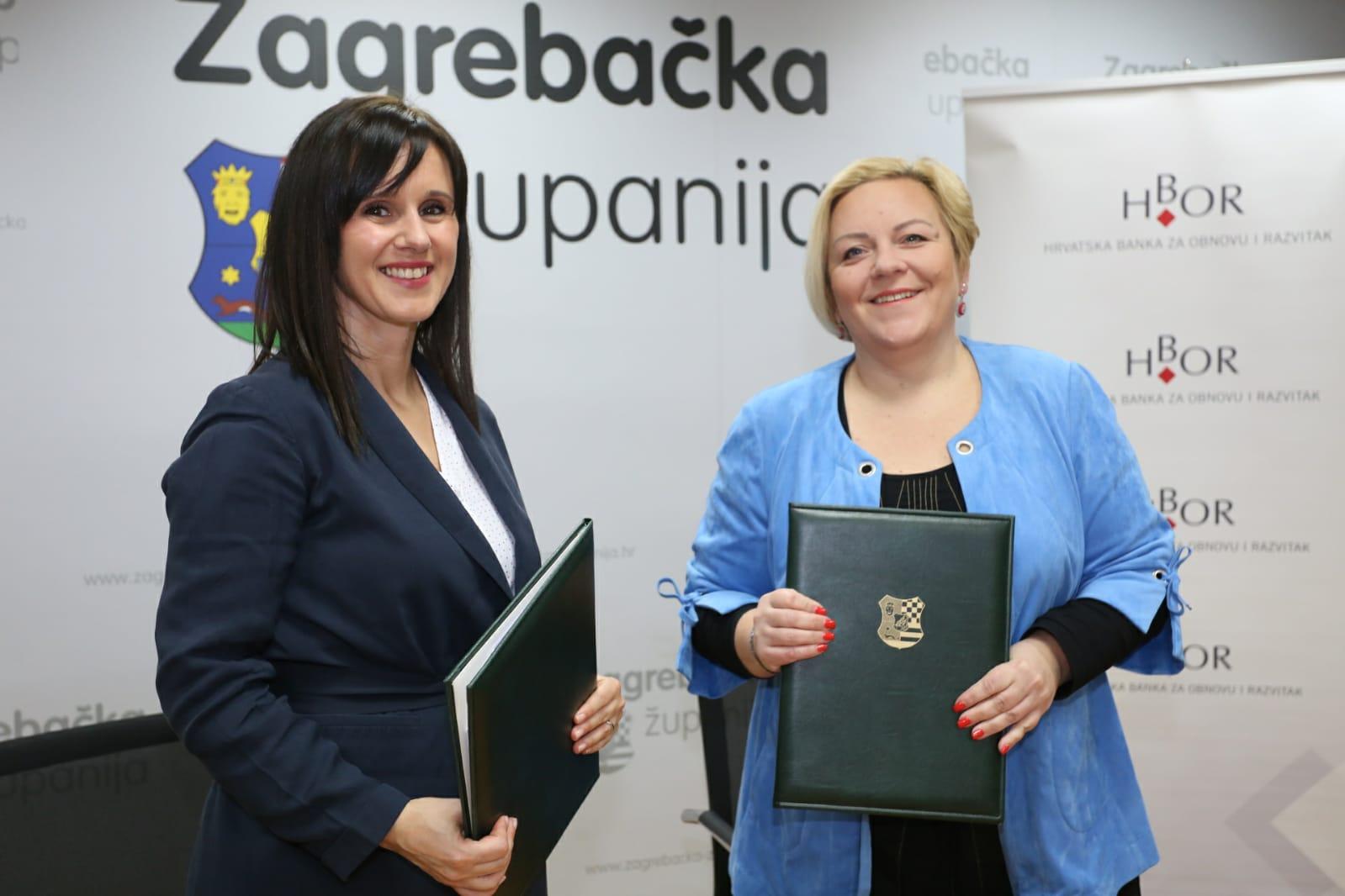 Zagrebačka županija s HBOR-om ugovorila subvencioniranje kamatne stope u visini do 1 postotnog boda