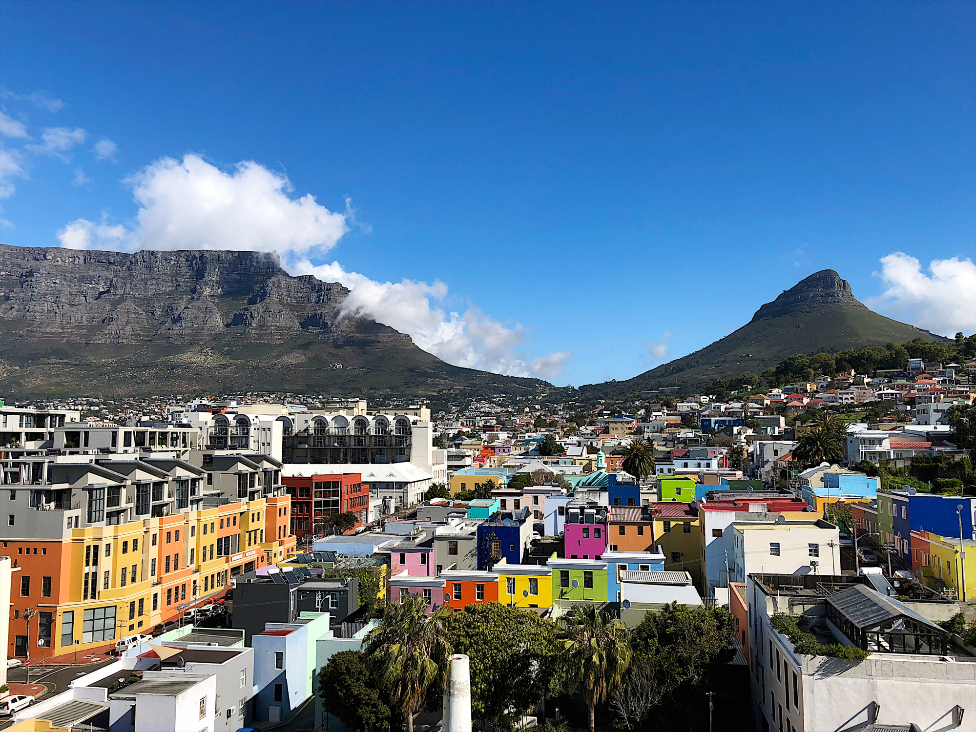 Mother City Cape Town Bo Kaap Colourful Historic Area with Table Mountain and City Centre Western Cape South Africa