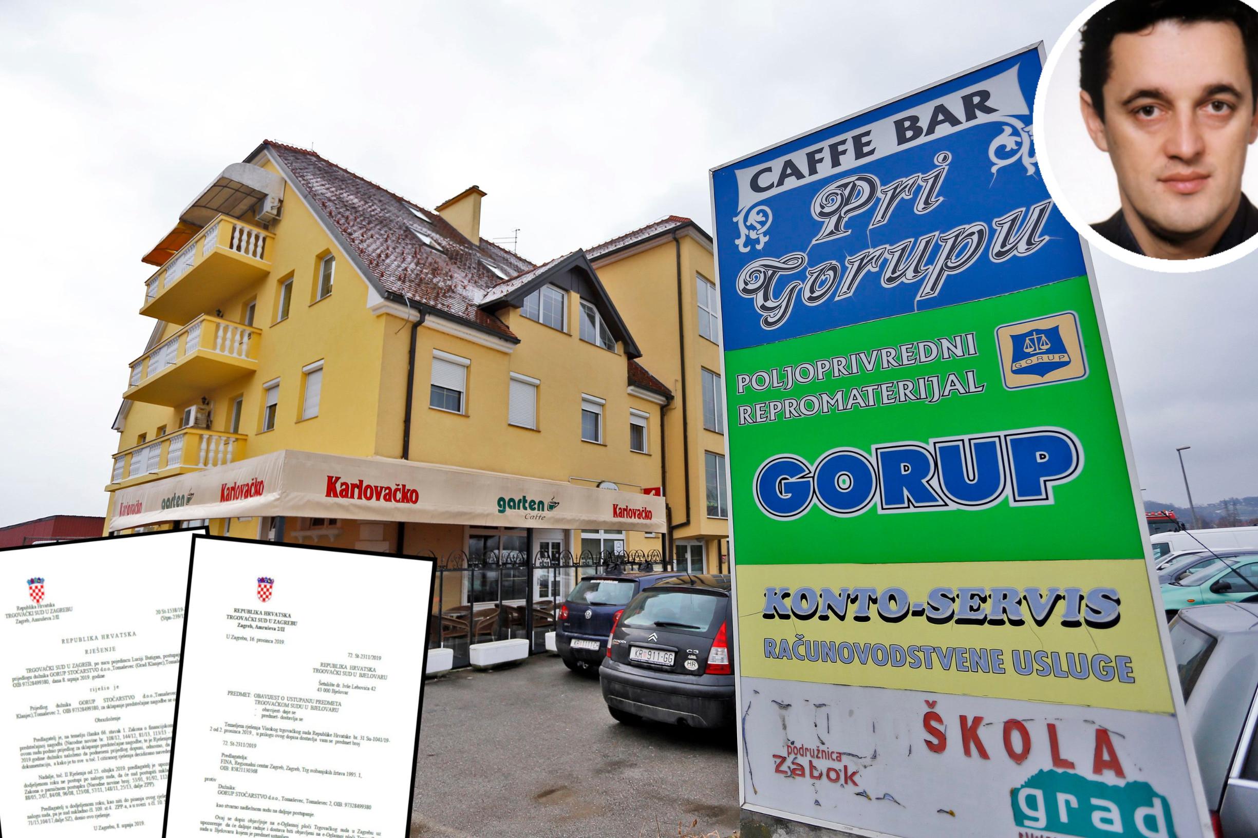 Zgrada u vlasništvu Božidara Gorupa, rješenje Trgovačkog suda i Božidar Gorup u krugu