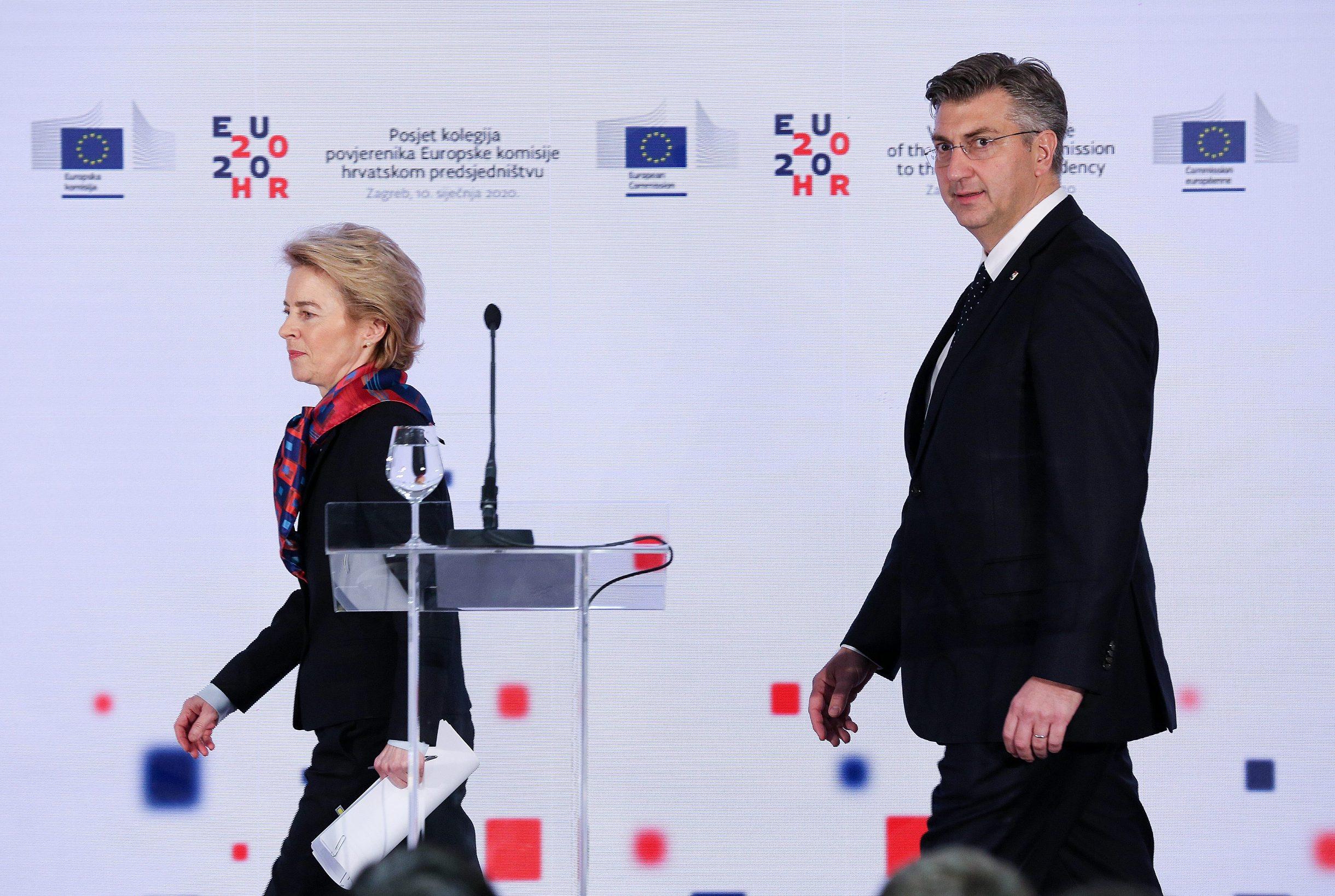 Predsjednik Vlade Andrej Plenković i predsjednica Europske komisije Ursula von der Leyen