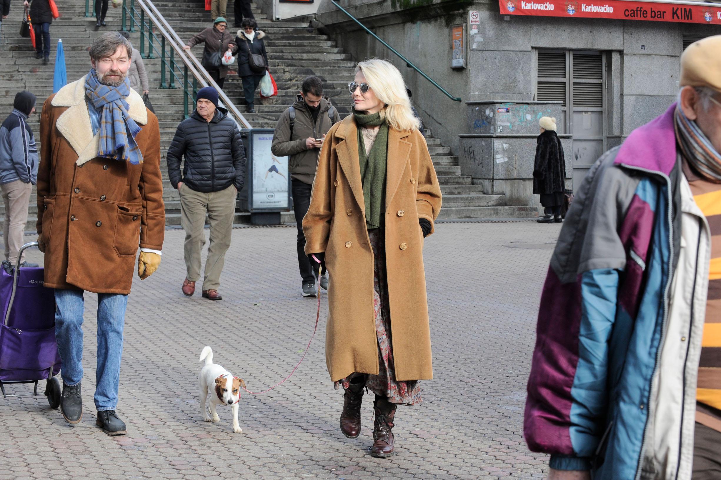 Spica / Zagreb 29.01.2020. / foto: Davor Matota / Barbara Nola i Lukas Nola i pas Maca