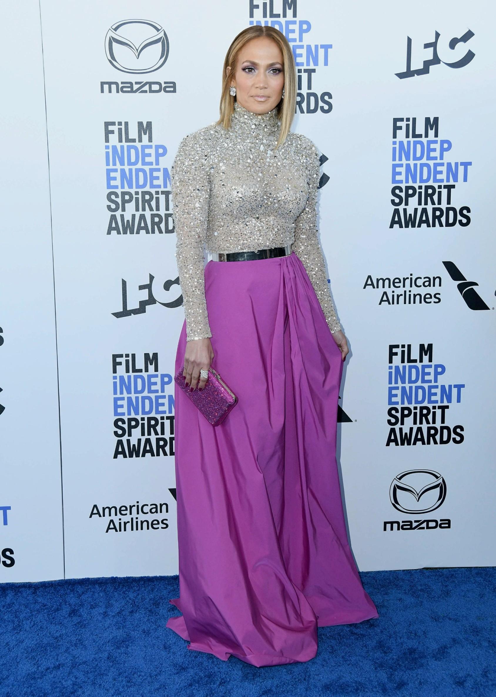 , Santa Monica , CA - 20200208 2020 Film Independent Spirit Awards - Arrivals.   -PICTURED: Jennifer Lopez -, Image: 497328412, License: Rights-managed, Restrictions: , Model Release: no, Credit line: Thompson/AdMedia/Media Punch / INSTAR Images / Profimedia