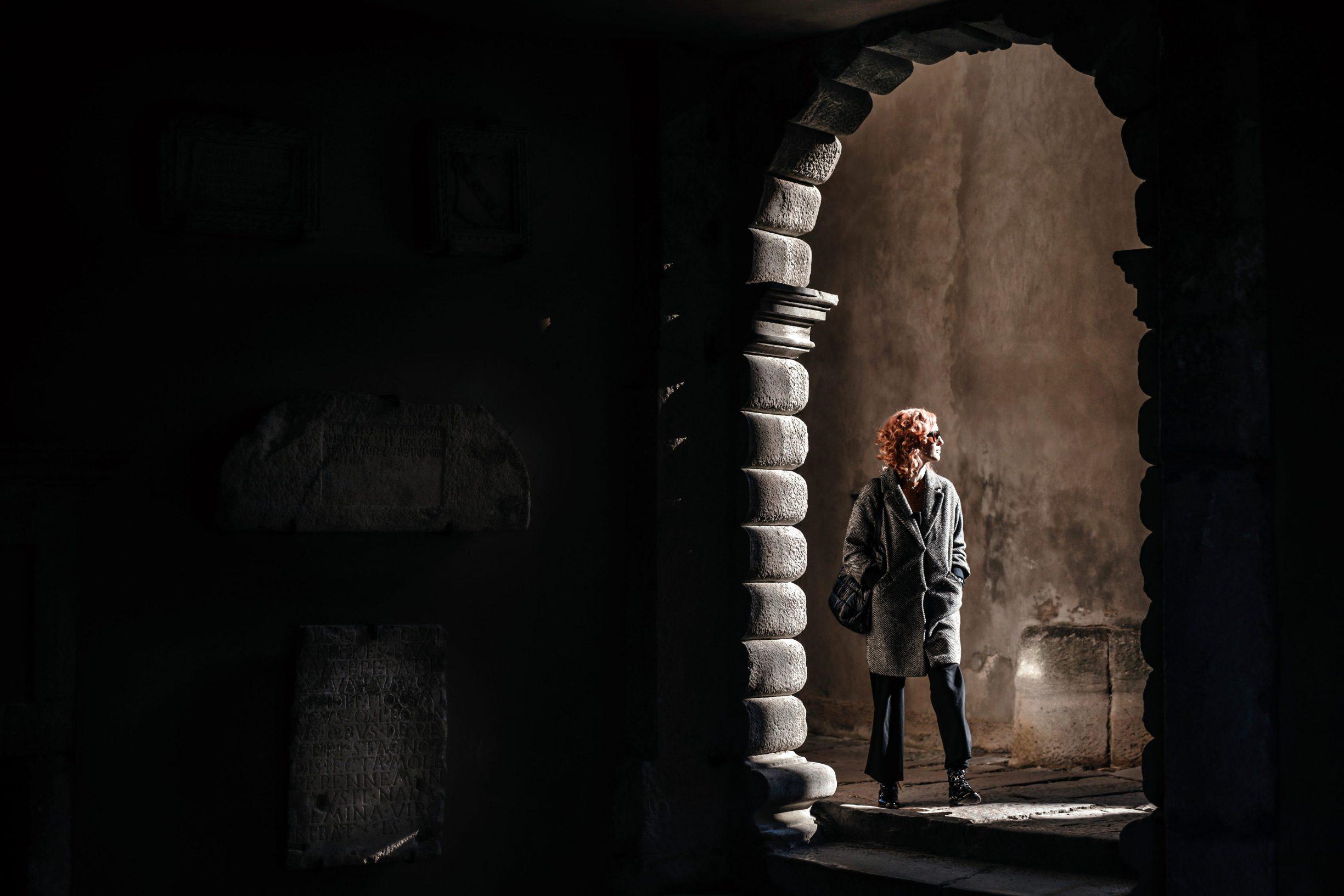 Labin, 250220 Reportaza o gradu Labinu u ciklusu I to je Hrvatska.  Na fotografiji Tea Bicic akademska slikarica i voditeljica programa Gradske galerije Labin Foto: Danijel Soldo / CROPIX