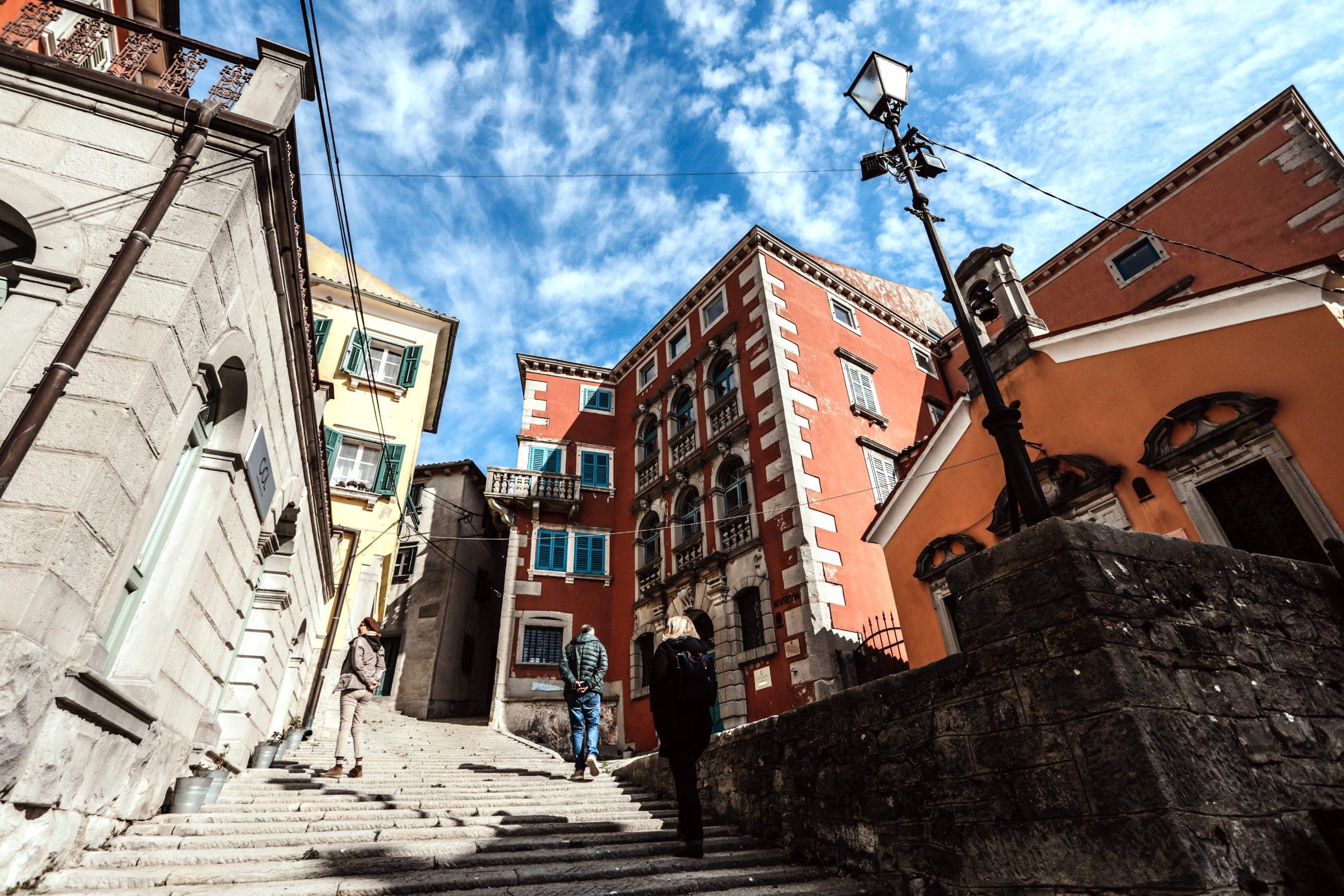 Labin, 250220 Reportaza o gradu Labinu u ciklusu I to je Hrvatska.  Na fotografiji labinski Stari grad. Foto: Danijel Soldo / CROPIX