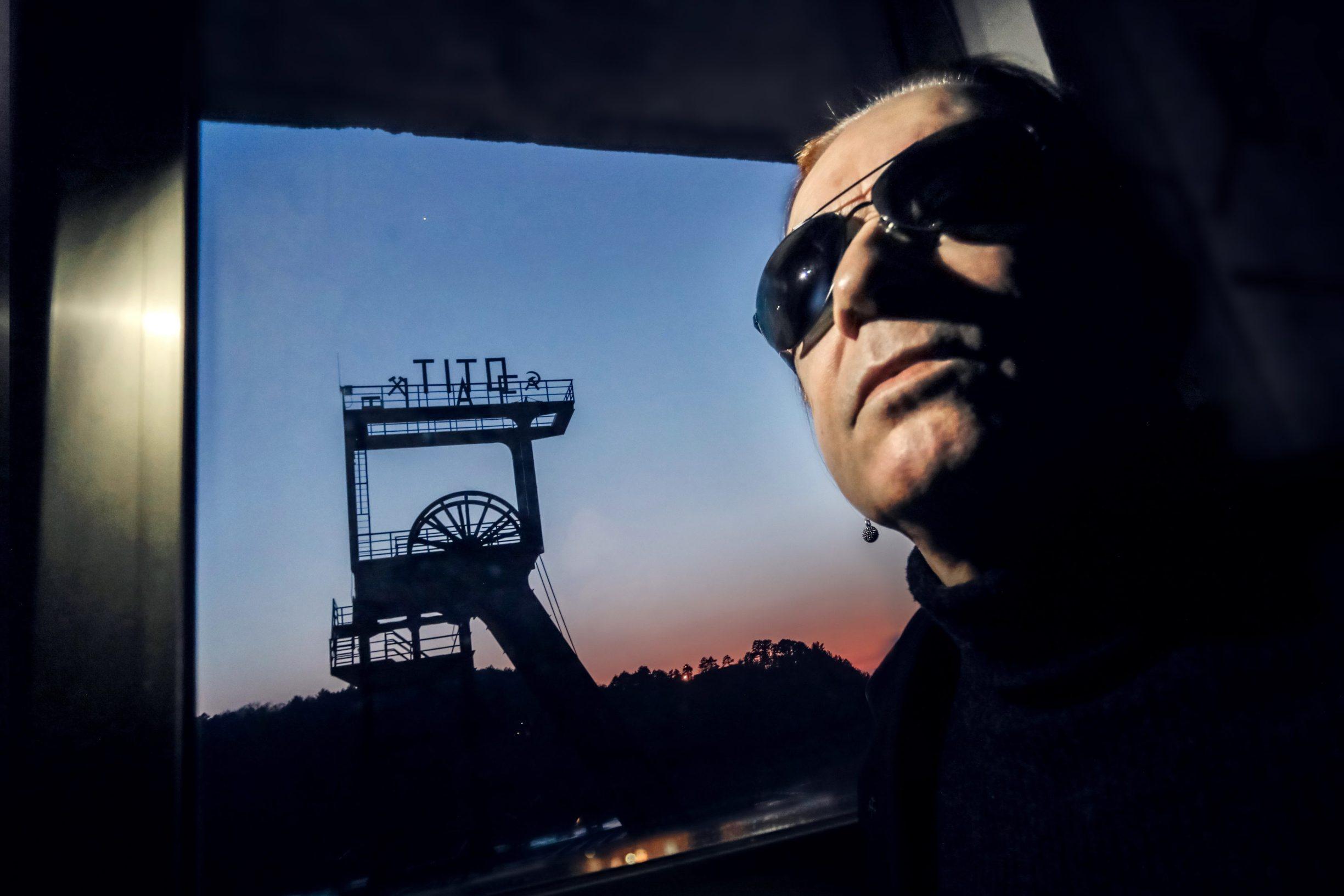 Labin, 250220 Reportaza o gradu Labinu u ciklusu I to je Hrvatska.  Na fotografiji Dean Zahtila predsjednik Labin Art Ekspressa u KUC-u Lamparna. Foto: Danijel Soldo / CROPIX