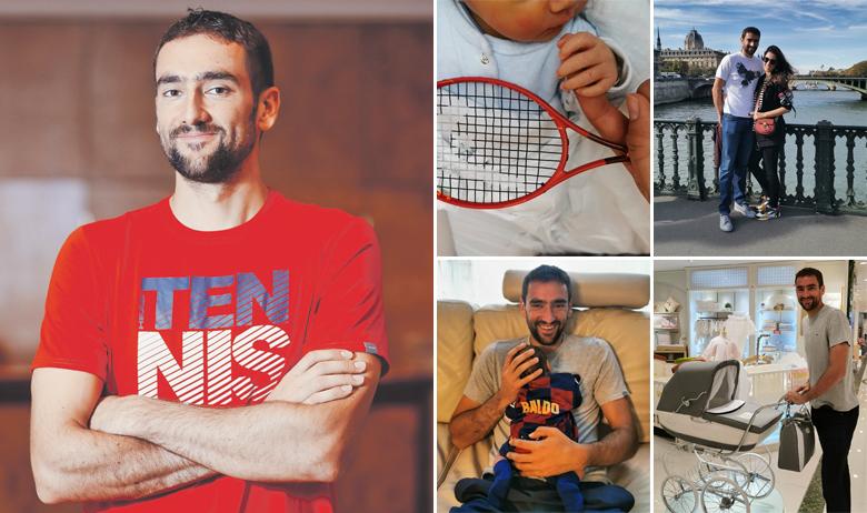 """Poznati tenisač često objavljuje fotografije na društvenim mrežama. Na slikama se prati kako kupuje kolica, sina """"upoznaje"""" s teniskim reketom, odijeva ga u dres koji mu je poslao Ivan Rakitić te kako uživa sa suprugom Krstinom"""