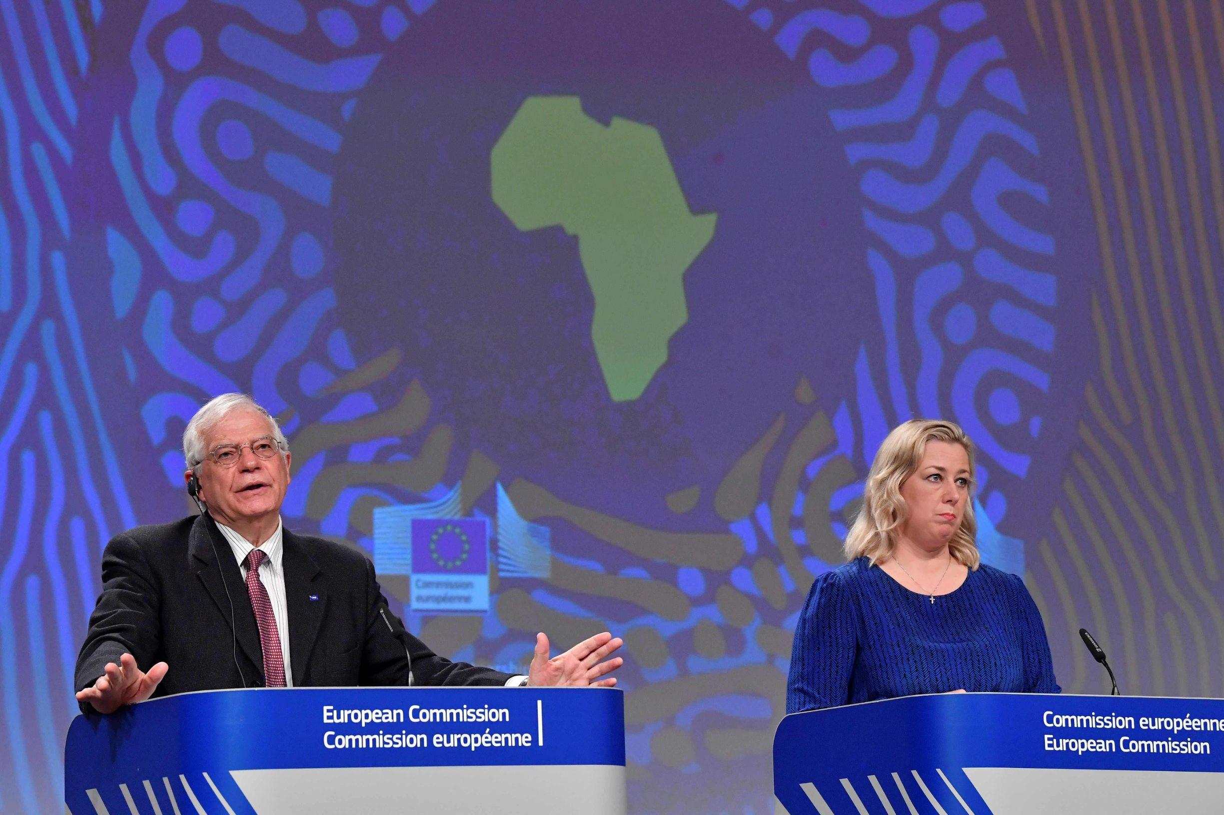 Visoki predstavnik EU-a za vanjsku i sigurnosnu politiku Josep Borrel i europska povjerenica za međunarodna partnerstva Jutta Urpilainen