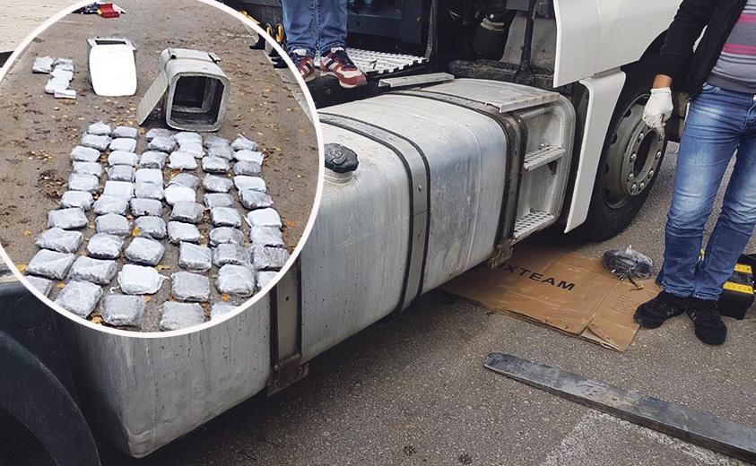 Prerađeni spremnici u kojima se prevozila droga