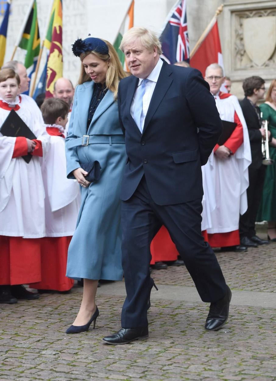 Boris Johnson i Carrie Symonds na Danu Commonwealtha