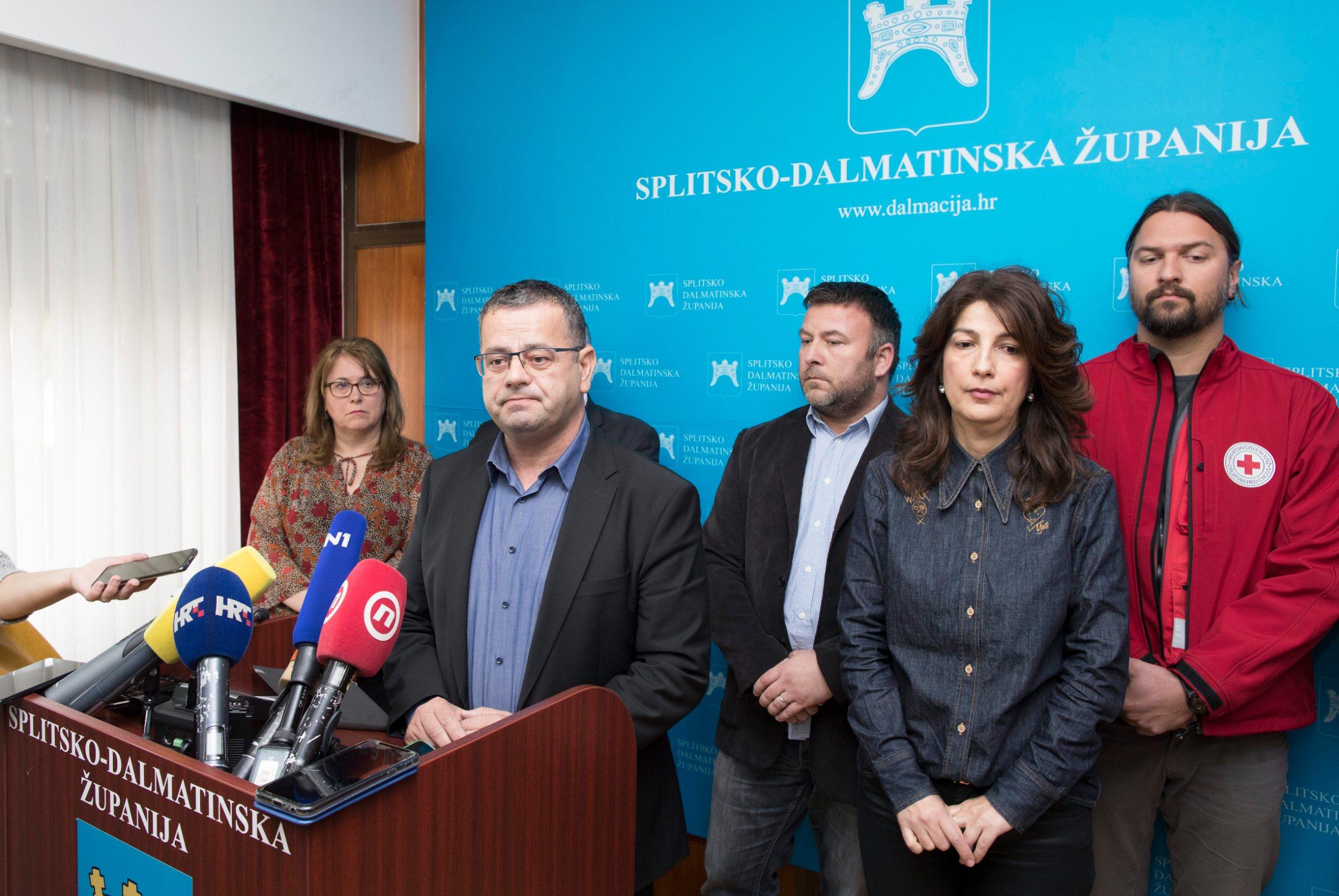 Sjednica Županijskog kriznog stožera Civilne zaštite, na čelu s Lukom Brčićem
