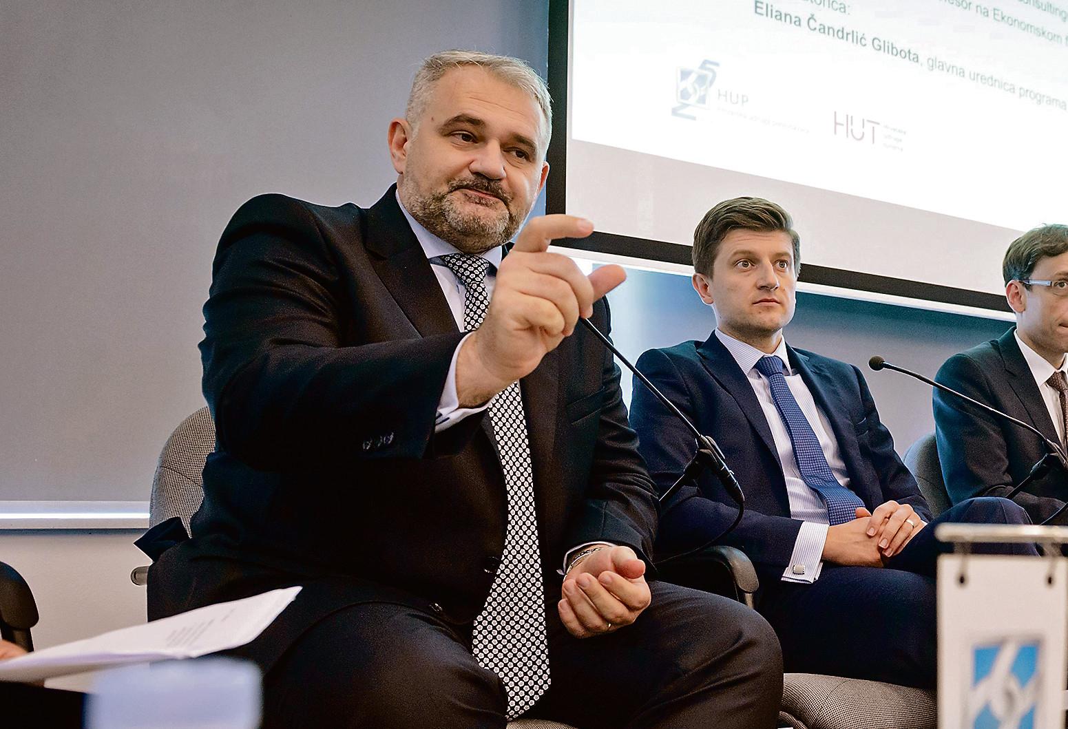 Glavni direktor HUP-a Davor Majetić, ministar financija Zdravko Marić