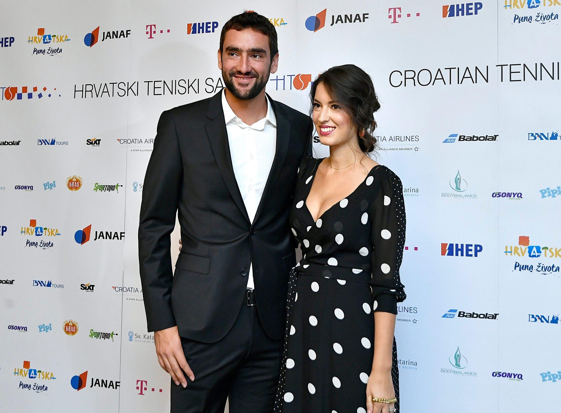 Marin i Kristina Čilić na Noći hrvatskog tenisa u Zagrebu krajem 2019. godine