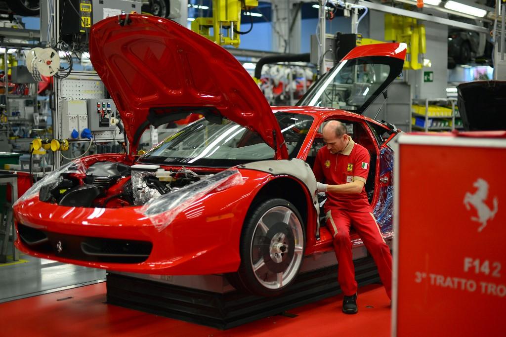 Ferrari, pogon u Italiji