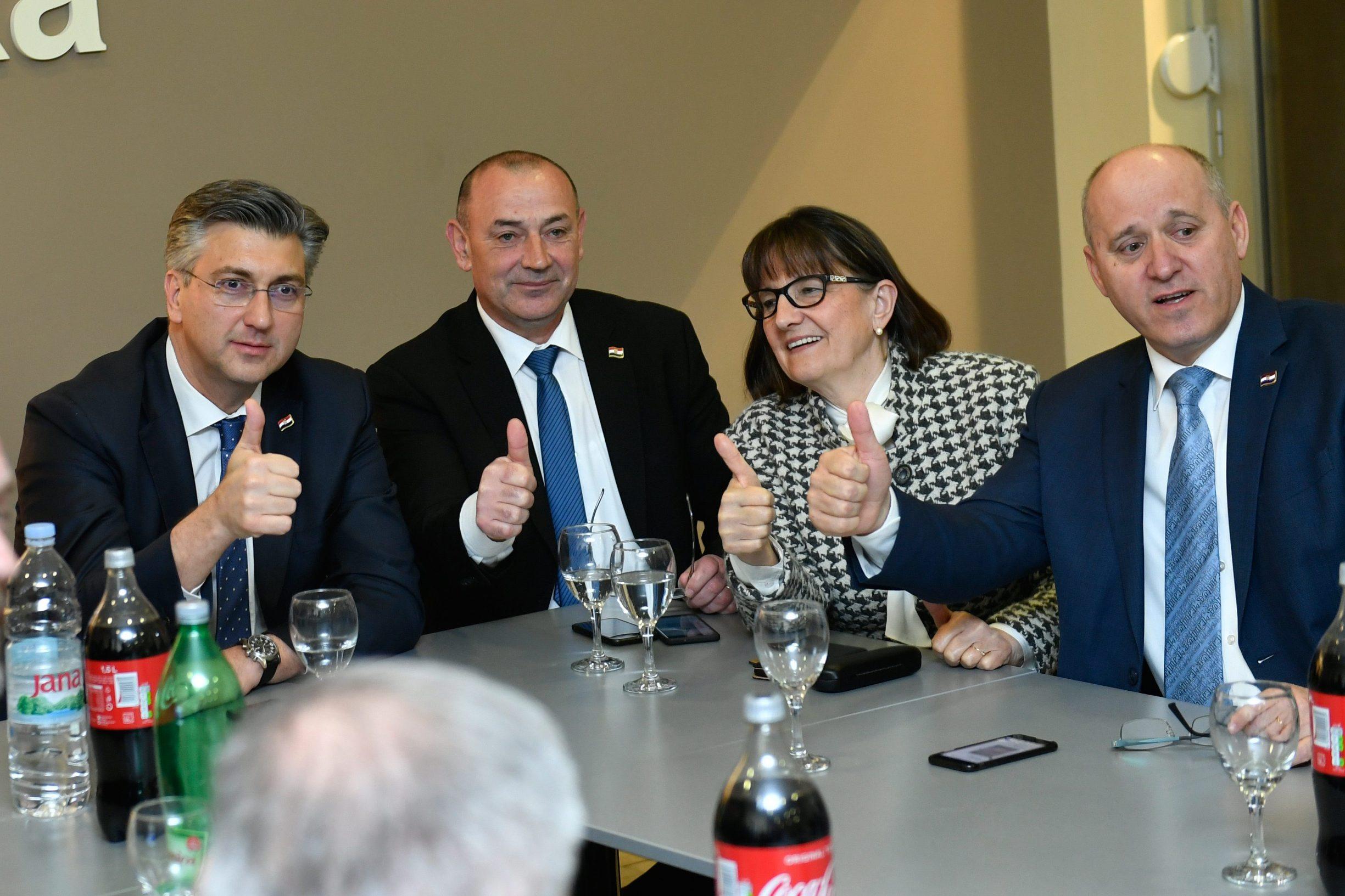 Andrej Plenković, Tomo Medved, Zdravka Bušić i Branko Bačić