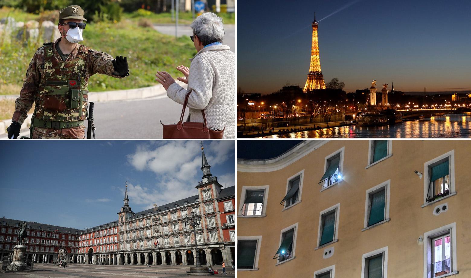Prizori diljem Europe tijekom karanetna