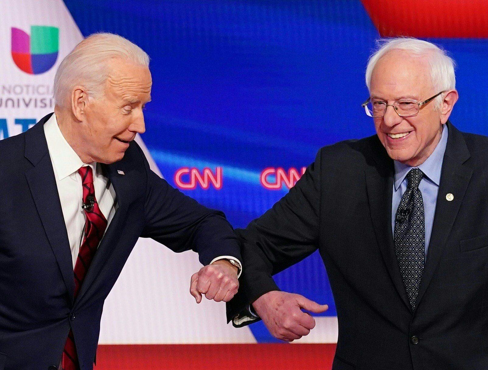 Joe Biden i Bernie Sanders tijekom debate 15. ožujka