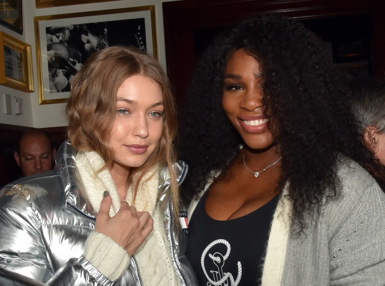 /Gigi Hadid, Serena Williams Tommy Hilfiger 'American Dreamer' book launch Party, New York, USA - 01 Nov 2016, Image: 304530690, License: Rights-managed, Restrictions: , Model Release: no, Credit line: H. Walker/WWD / Shutterstock Editorial / Profimedia