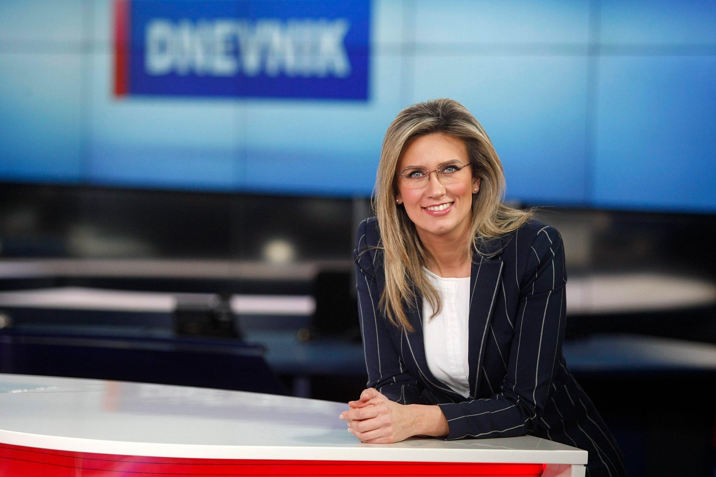 Zagreb, 021217. Nova TV. Romina Knezic, voditeljica Dnevnika Nove TV. Foto: Ranko Suvar / CROPIX