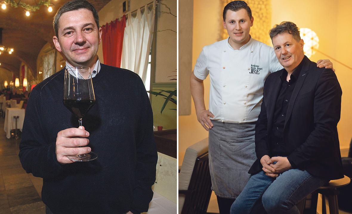 Dražen Boban, vlasnik Vinodola (lijevo), chef Matija Bregeš i vlasnik Boškinca Boris Šuljić (desno)