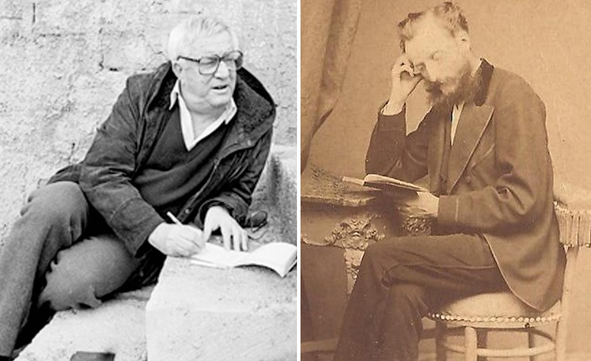 Miljenko Smoje (lijevo) i August Šenoa (desno)