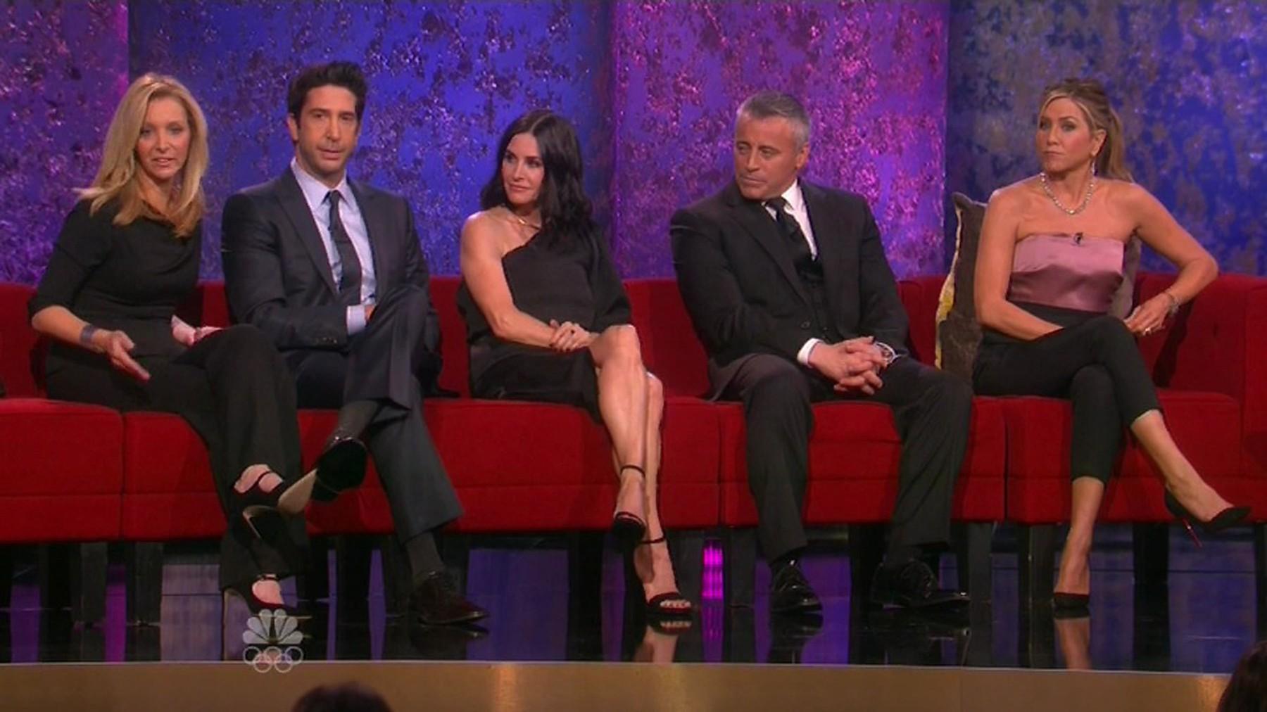 Lisa Kudrow, David Schwimmer, Courteney Cox, Matt LeBlanc i Jennifer Aniston