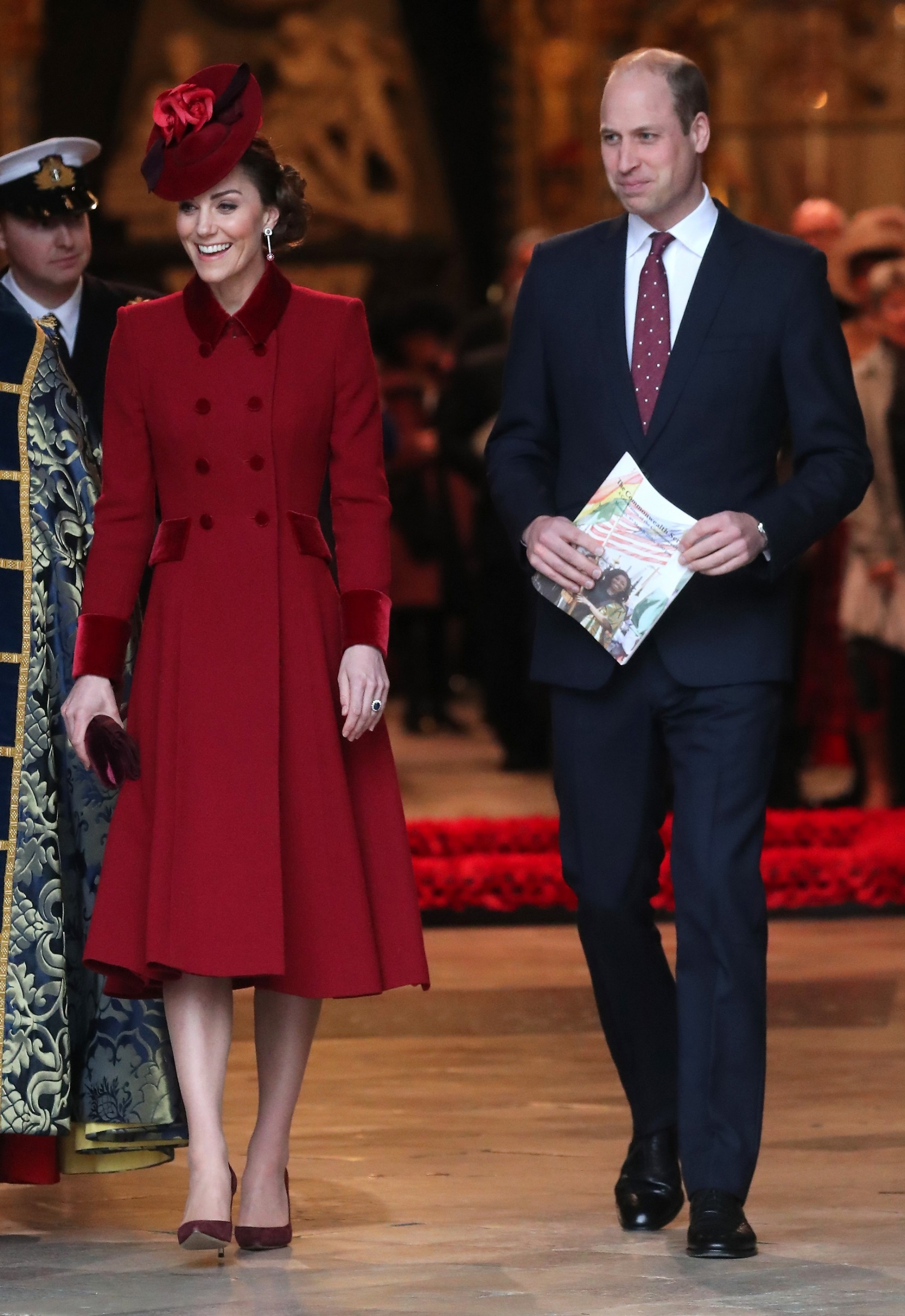 LONDON, ENGLAND - MARCH 09: Catherine, Duchess of Cambridge and Prince William, Duke of Cambridge depart the Commonwealth Day Service 2020 at Westminster Abbey on March 09, 2020 in London, England. The Commonwealth represents 2.4 billion people and 54 countries, working in collaboration towards shared economic, environmental, social and democratic goals. (Photo by Chris Jackson/Getty Images)