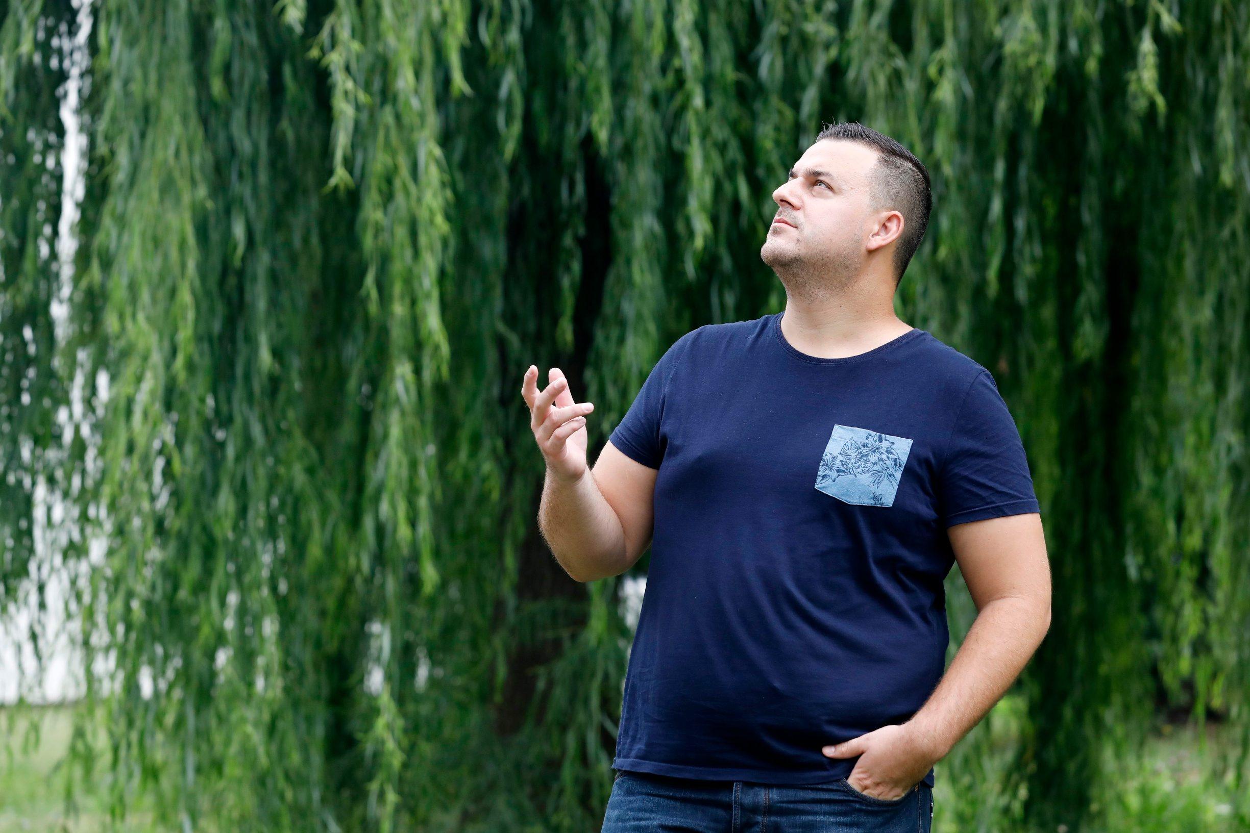 Zagreb, 020819. Vrbik. Na fotografiji: Dean Kotiga - lovac iz emisije Potjera. Foto: Tomislav Kristo / CROPIX
