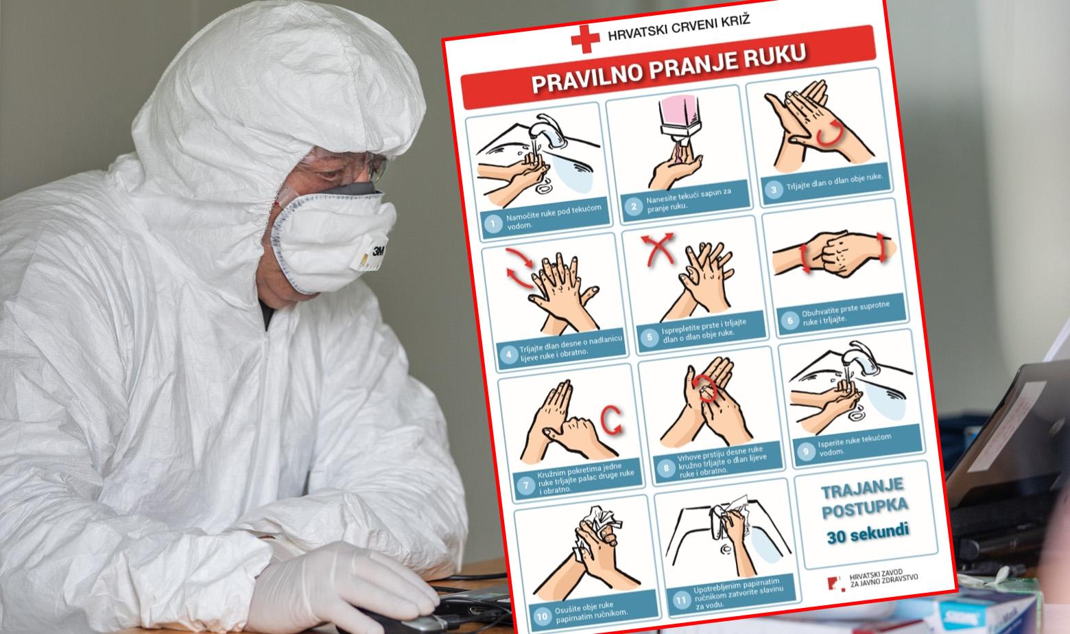 Pranje ruku upute koronavirus