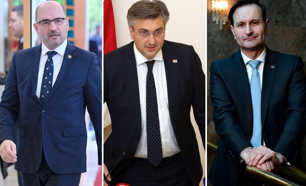 Milijan Brkić, Andrej Plenković i Miro Kovač
