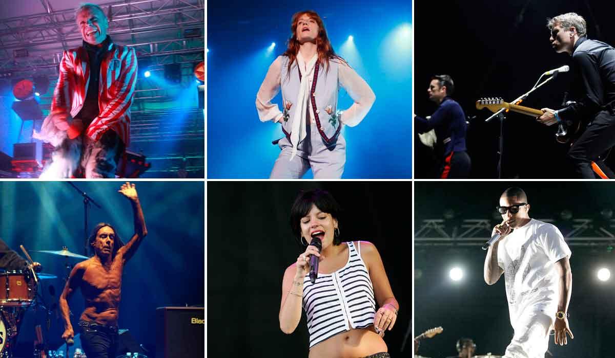 Prodigy, Florence + The Machine, Franz Ferdinand (fotografije gore); Iggy & The Stooges, Lily Allen, N.E.R.D (fotografije dolje)