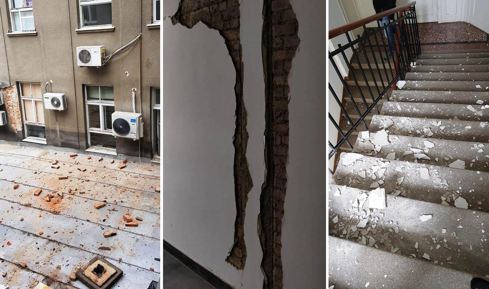 Oštećenja u zgradi Hrvatskog zavoda za javno zdravstvo