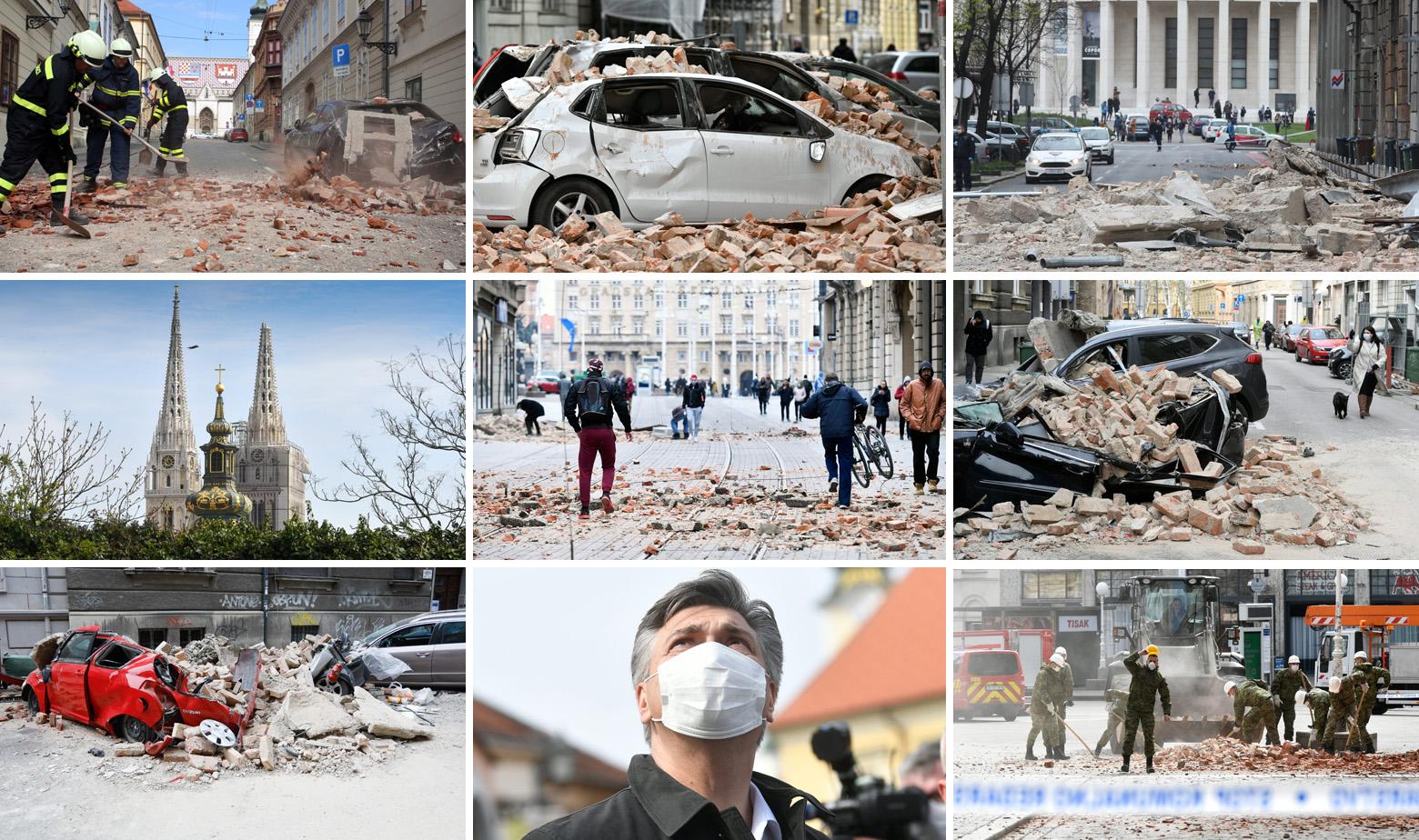 Prizori iz Zagreba nakon dva snažna potres