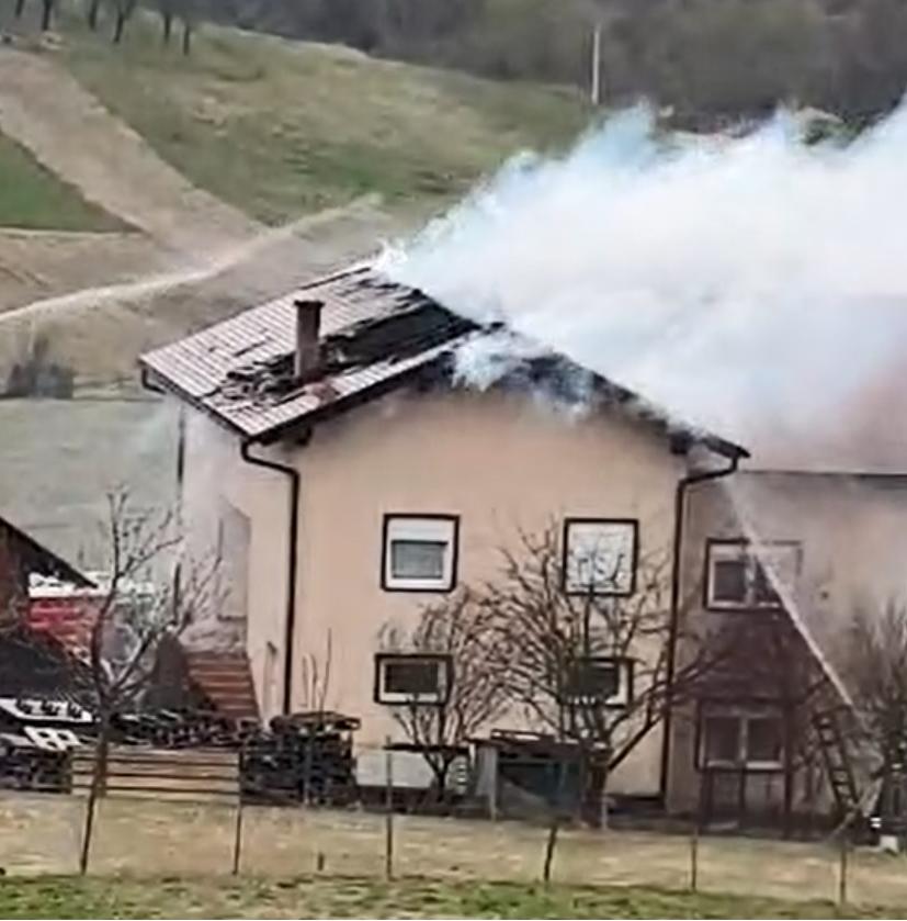 požar nedaleko epicentra