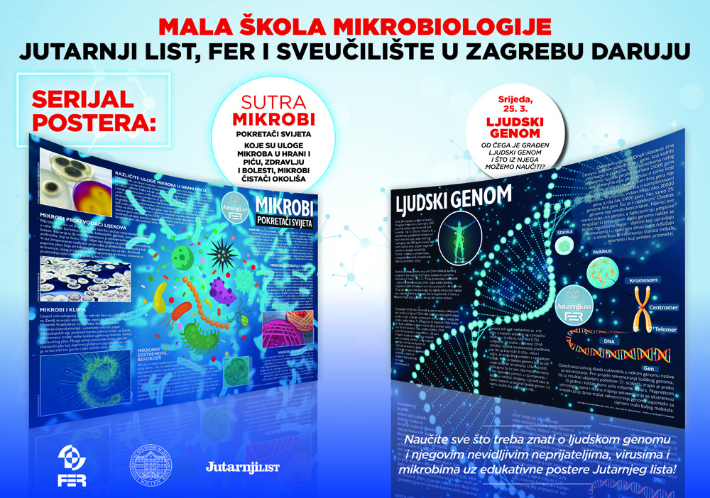Posteri 'Ljudski genom' i 'Mikrobi - pokretači svijeta'
