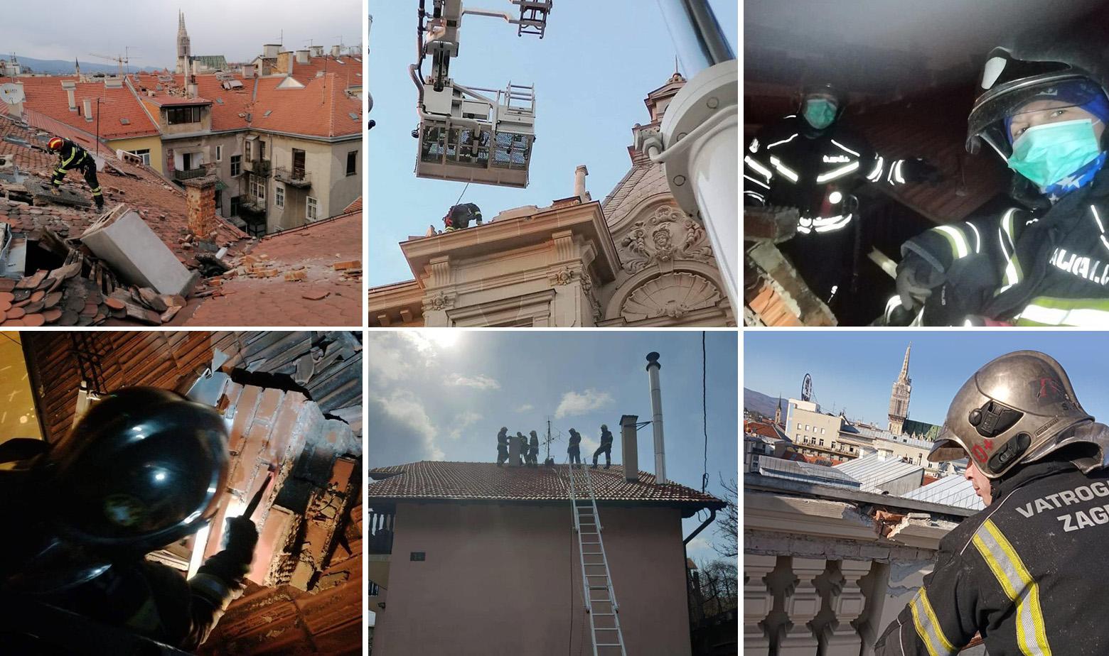 Zagrebački vatrogasci rade punom parom nakon potresa