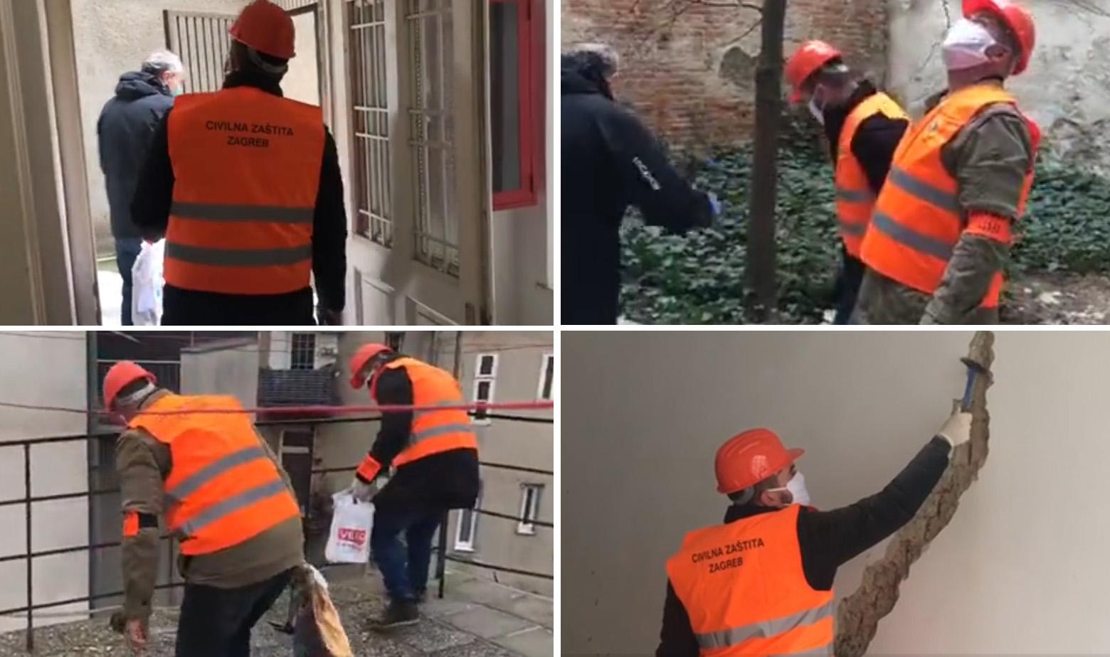 Statičari provjeravaju zgrade nakon potresa u Zagrebu