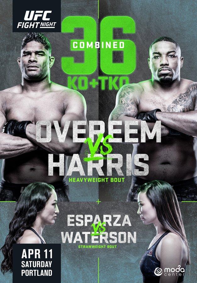 Overeem Harris poster