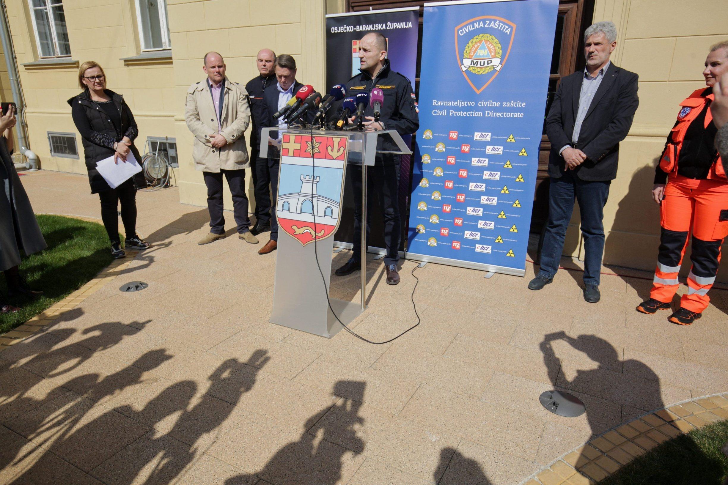 Osijek, 180320 Konferencija za medije Stozera za civilnu zastitu OBZ-a.  Na fotografiji: Ivan Anusic zupan osjecko baranjski.  Foto: Vlado Kos / CROPIX