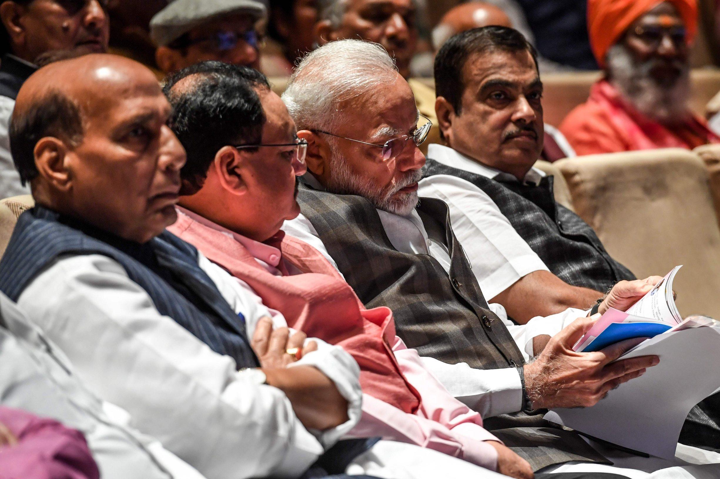 Indijski premijer Narendra Modi (treći slijeva)